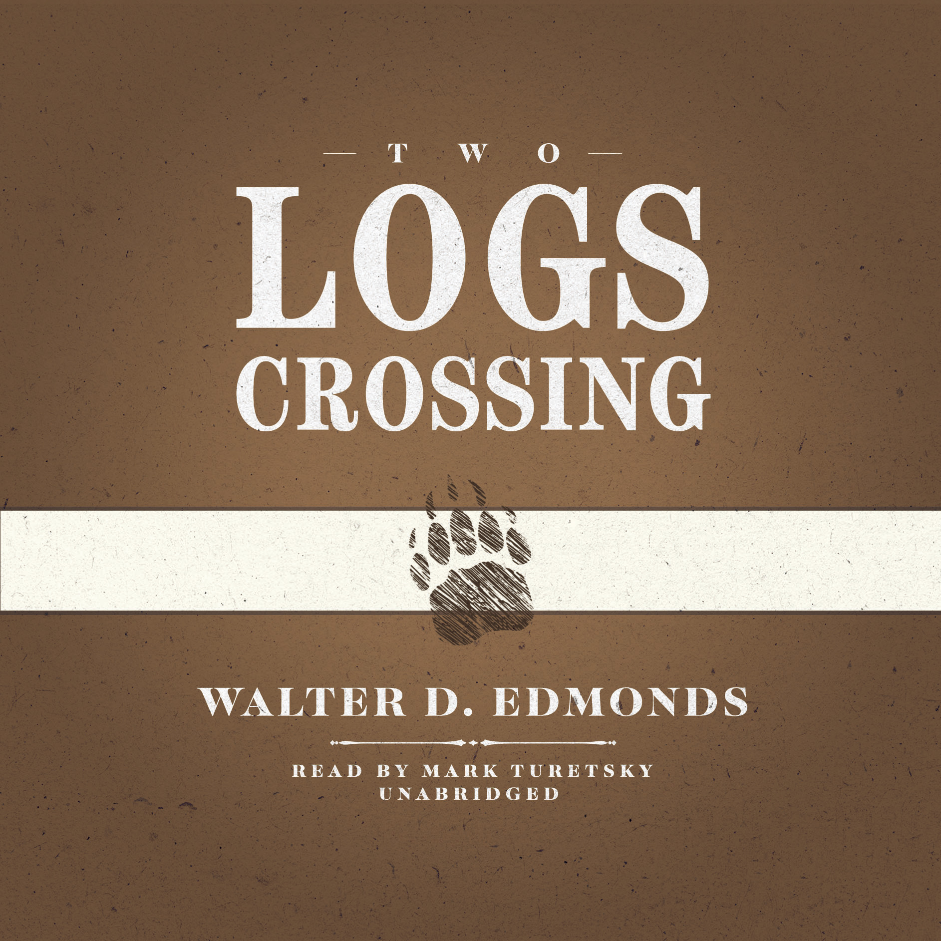 Printable Two Logs Crossing Audiobook Cover Art