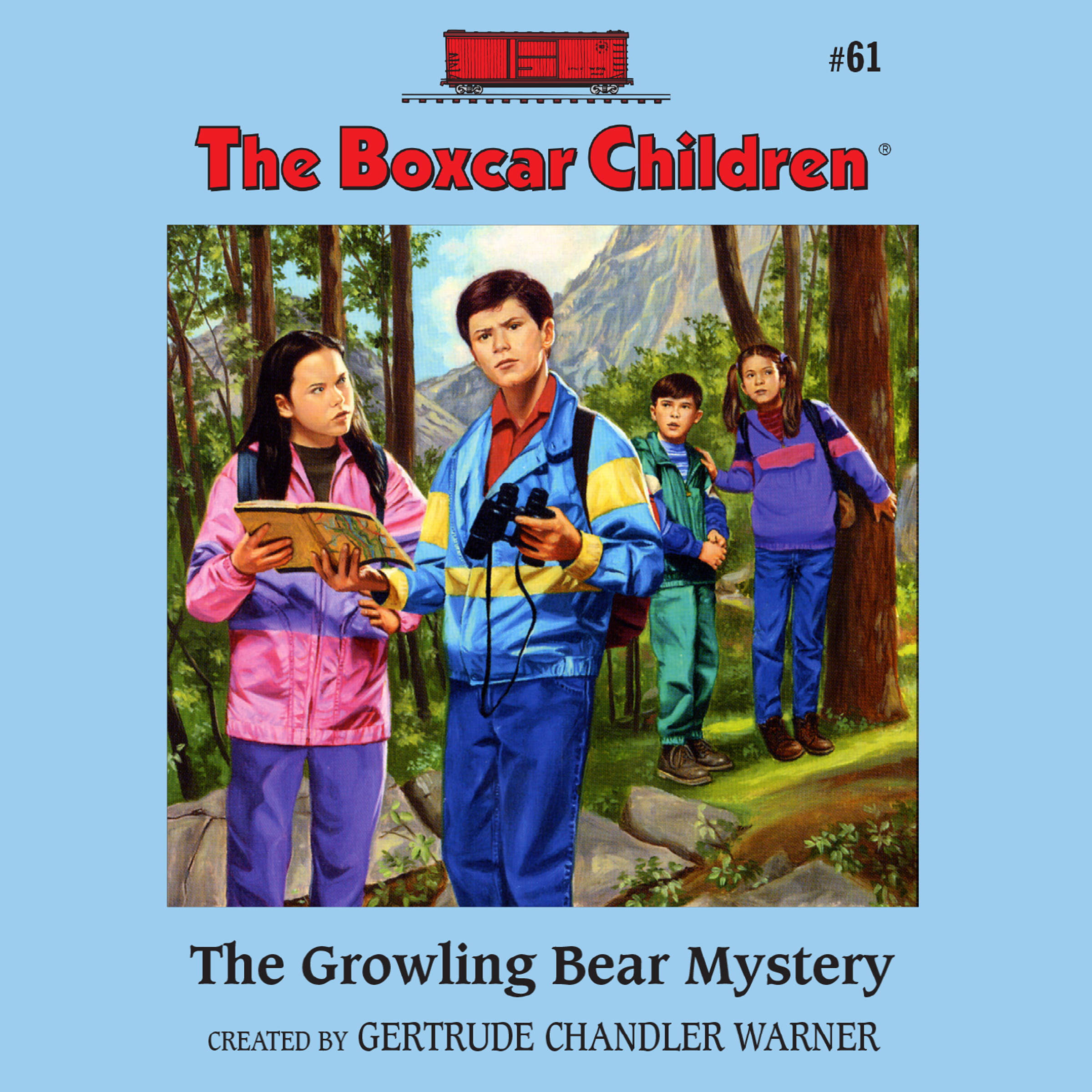 Printable The Growling Bear Mystery Audiobook Cover Art