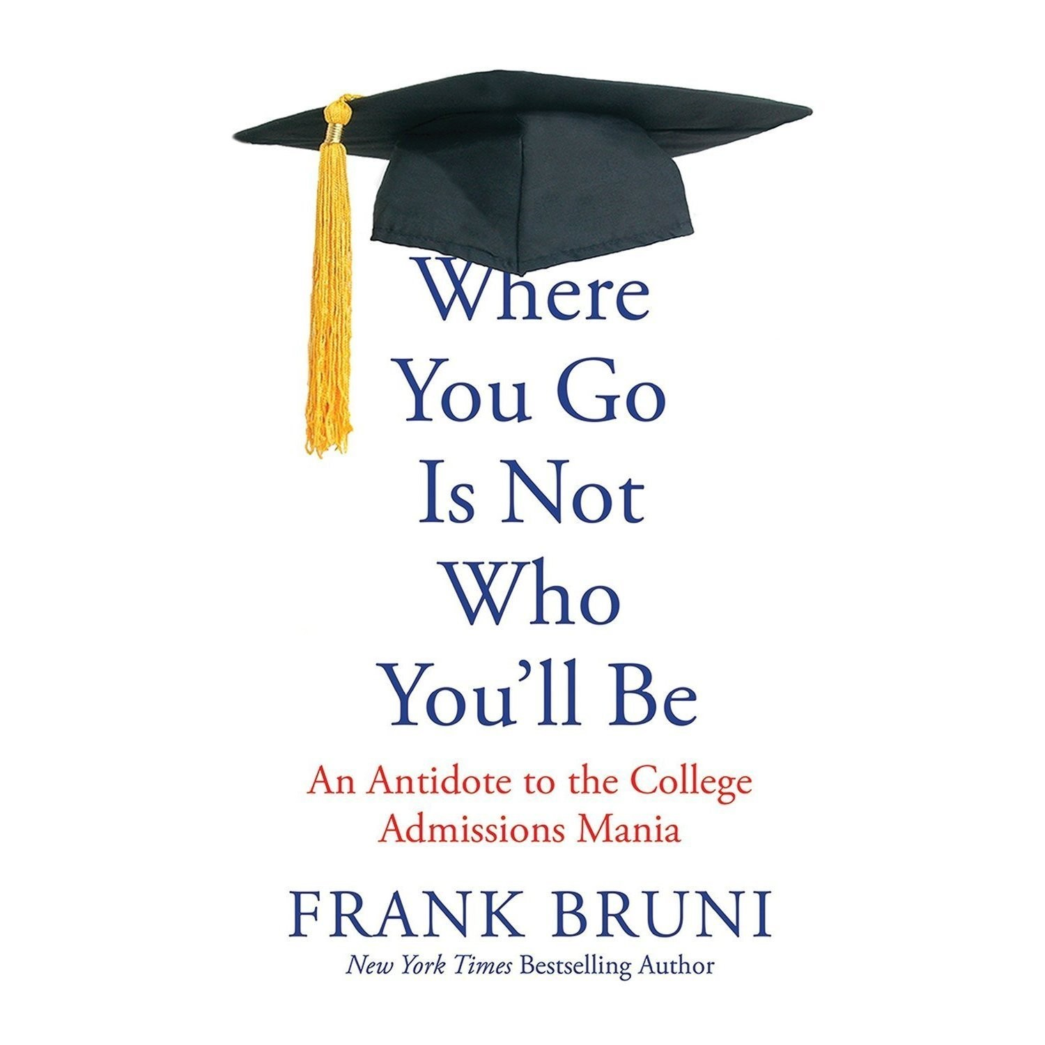 Printable Where You Go Is Not Who You'll Be: An Antidote to the College Admissions Mania Audiobook Cover Art