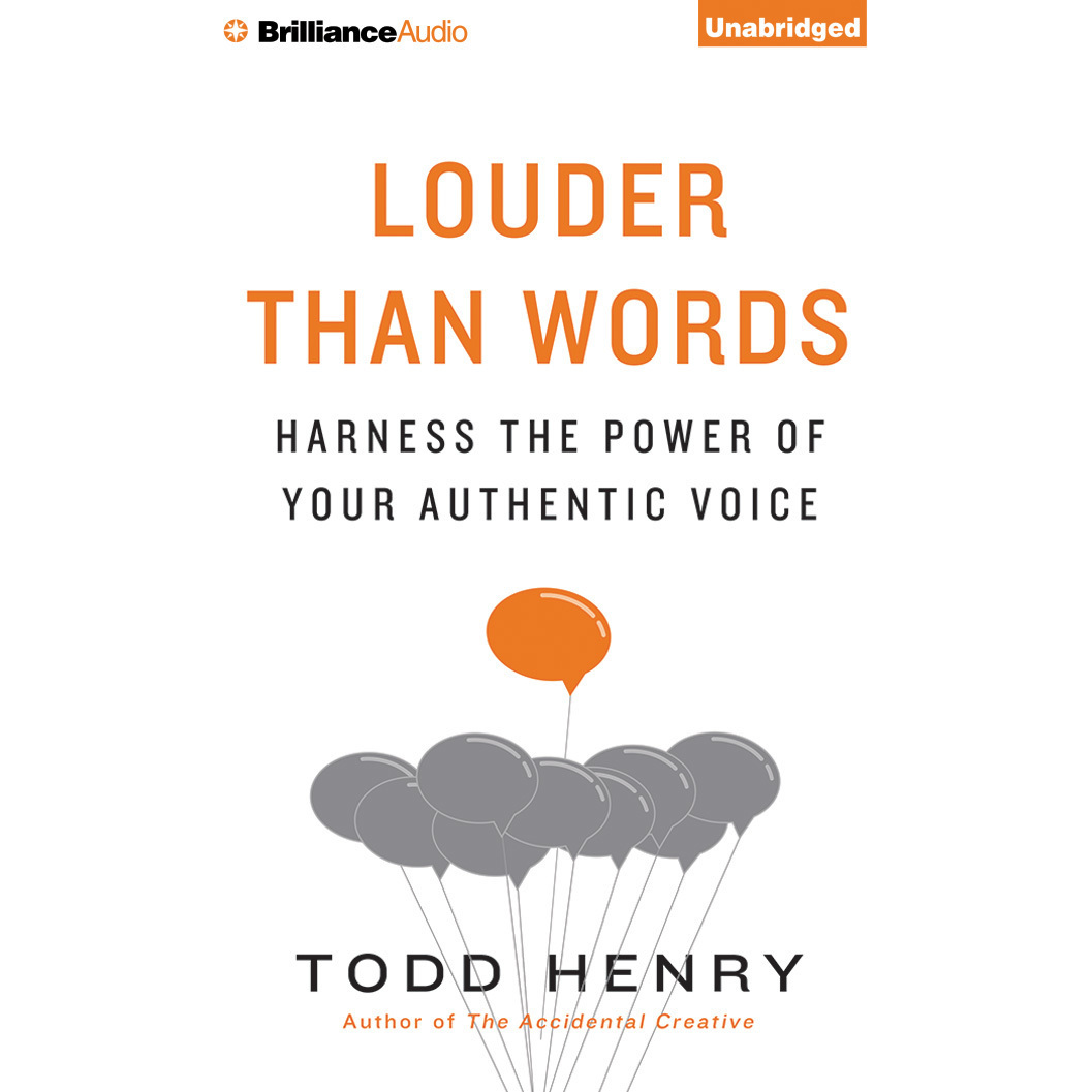 Printable Louder Than Words: Harness the Power of Your Authentic Voice Audiobook Cover Art