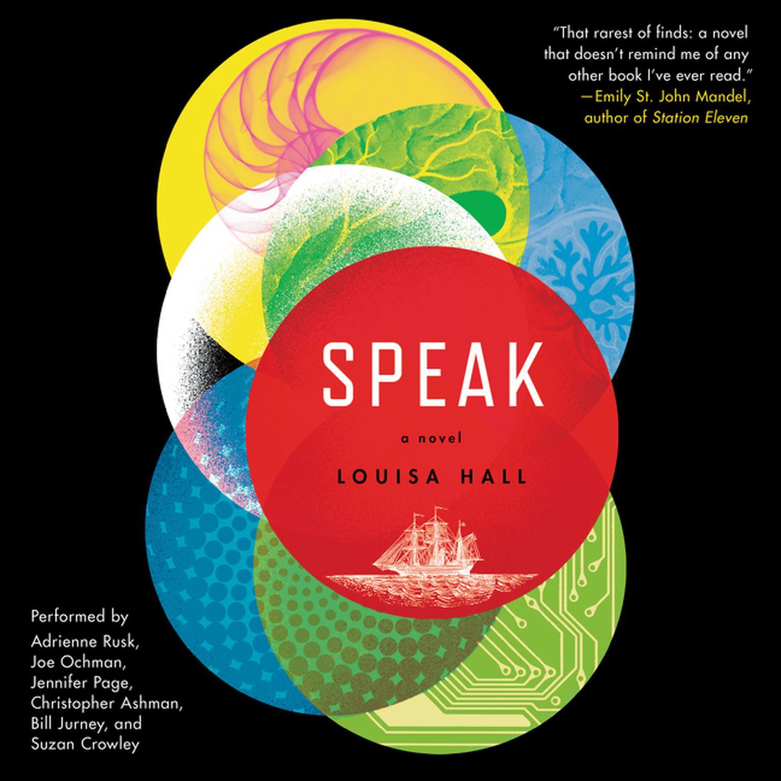 Printable Speak: A Novel Audiobook Cover Art
