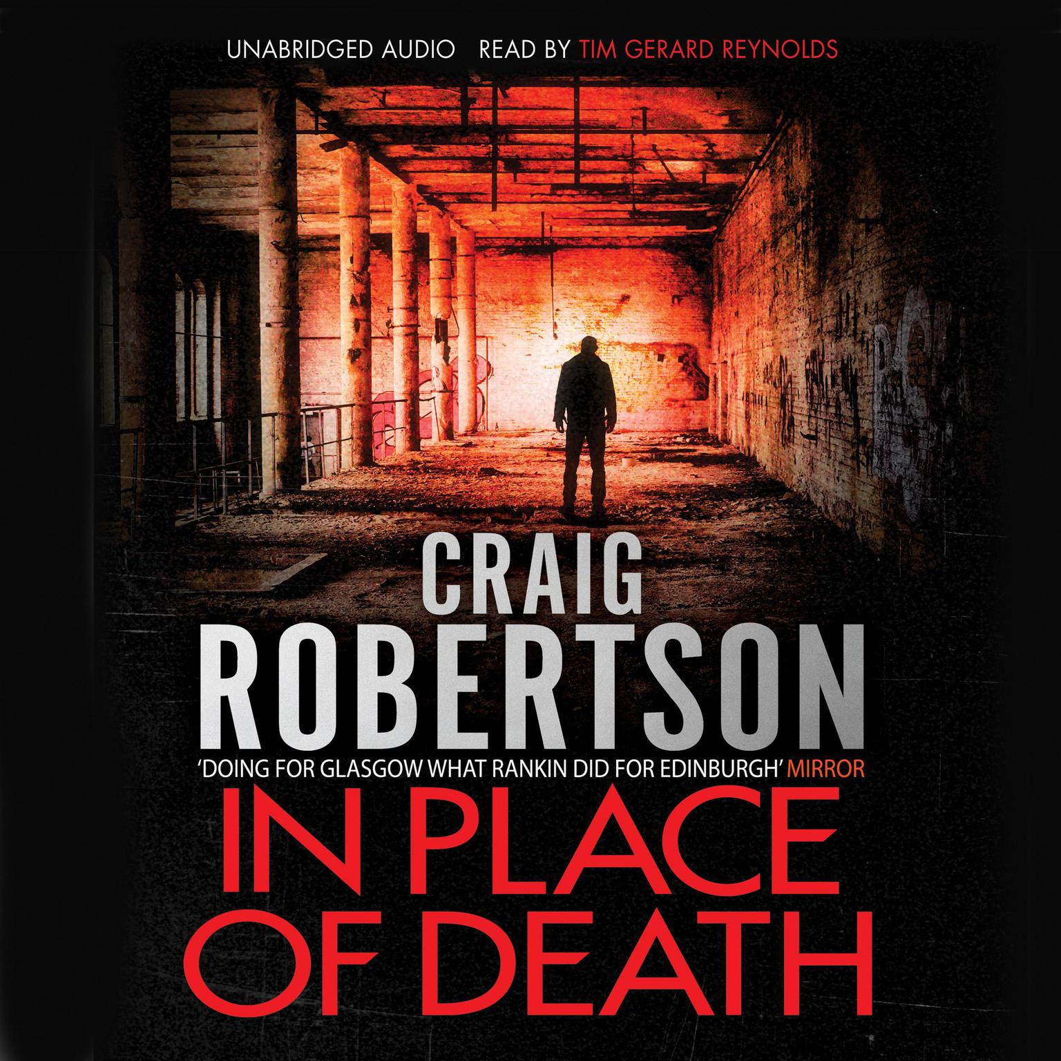 Printable In Place of Death Audiobook Cover Art