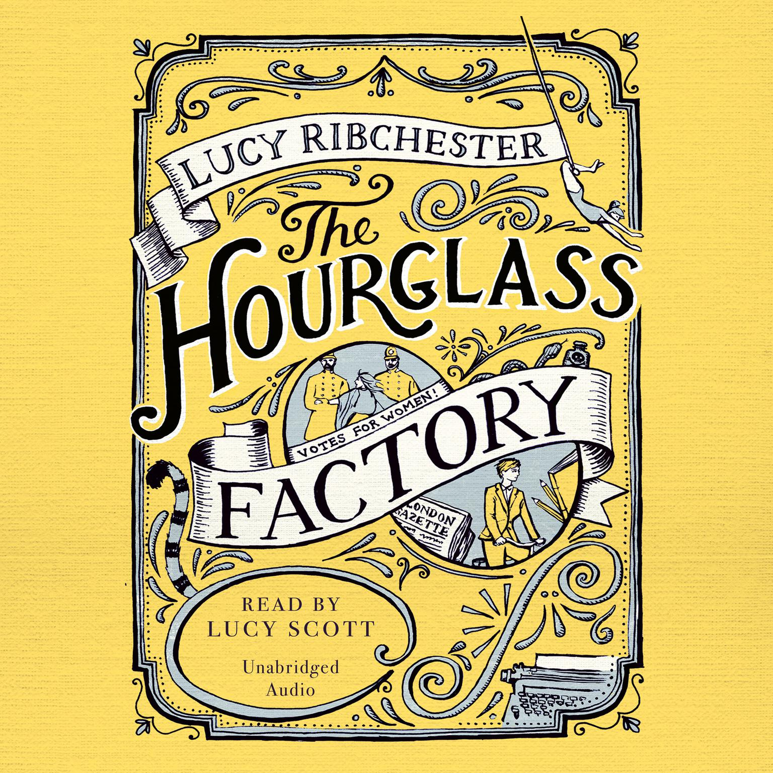 Printable The Hourglass Factory Audiobook Cover Art