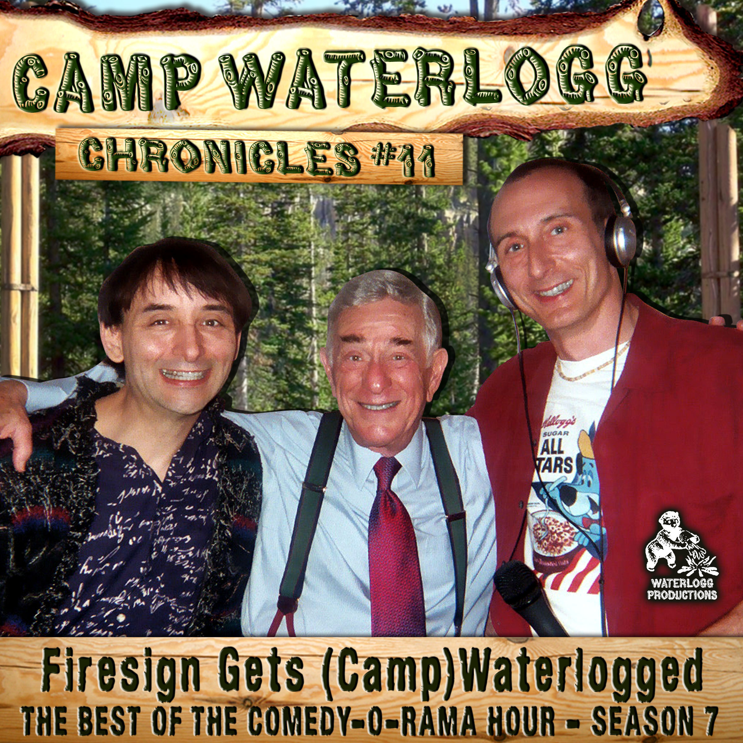 "Printable The Camp Waterlogg Chronicles 11: ""Firesign Gets (Camp) Waterlogged"" Audiobook Cover Art"