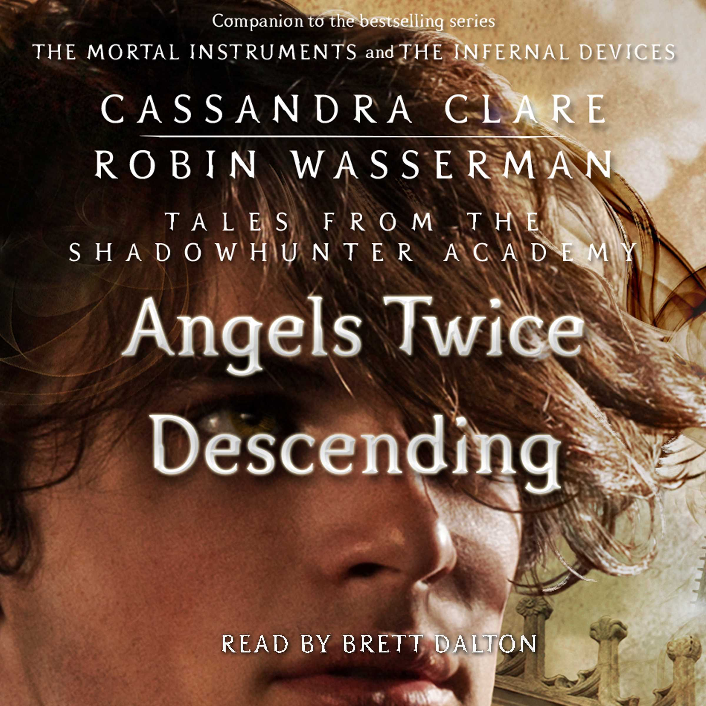 Printable Angels Twice Descending Audiobook Cover Art