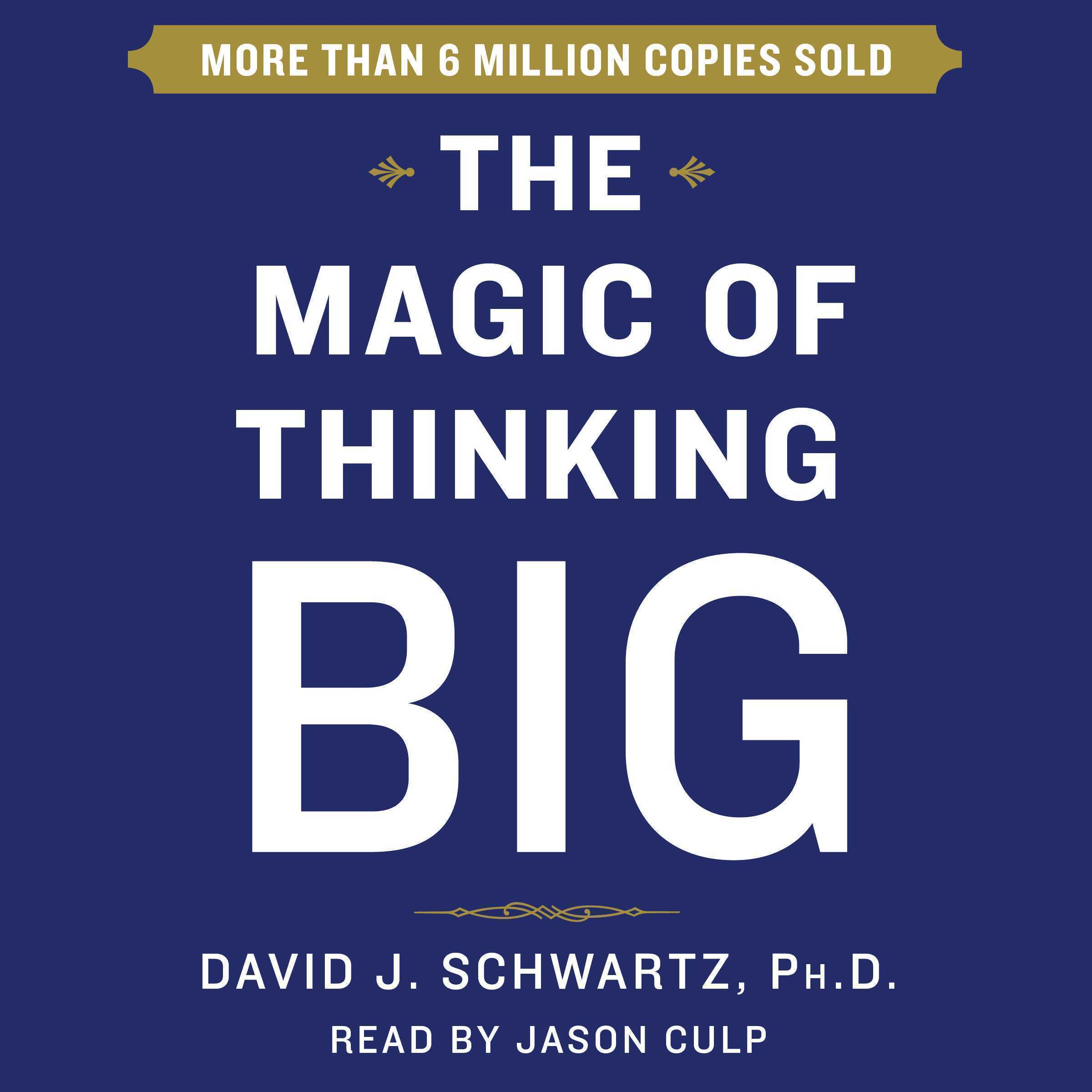 Printable Magic of Thinking Big Audiobook Cover Art