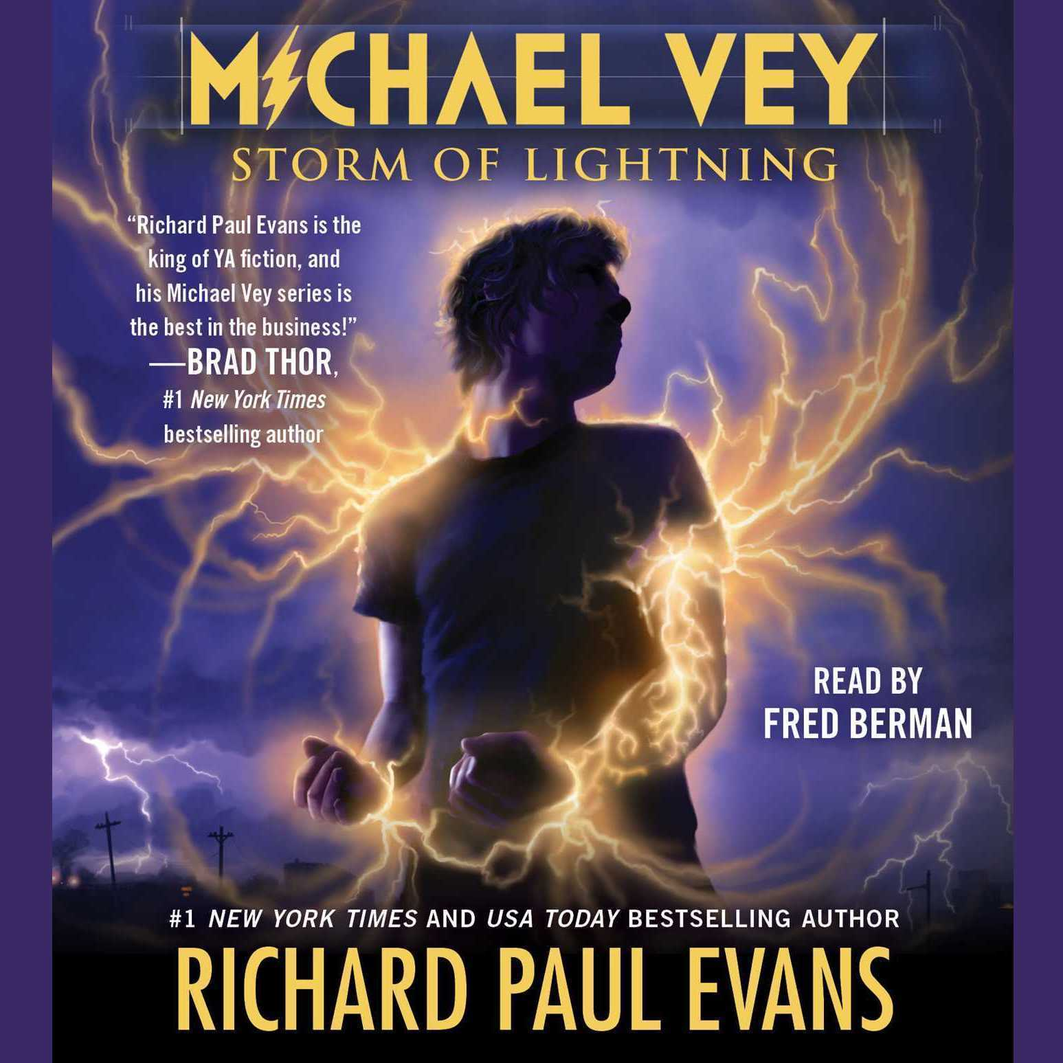 Printable Michael Vey 5: Storm of Lightning Audiobook Cover Art