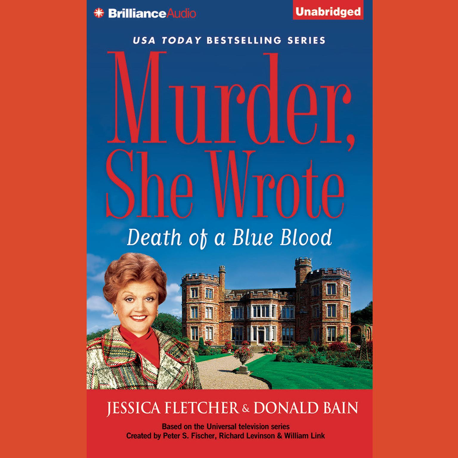 Printable Death of a Blue Blood: A Murder, She Wrote Mystery Audiobook Cover Art