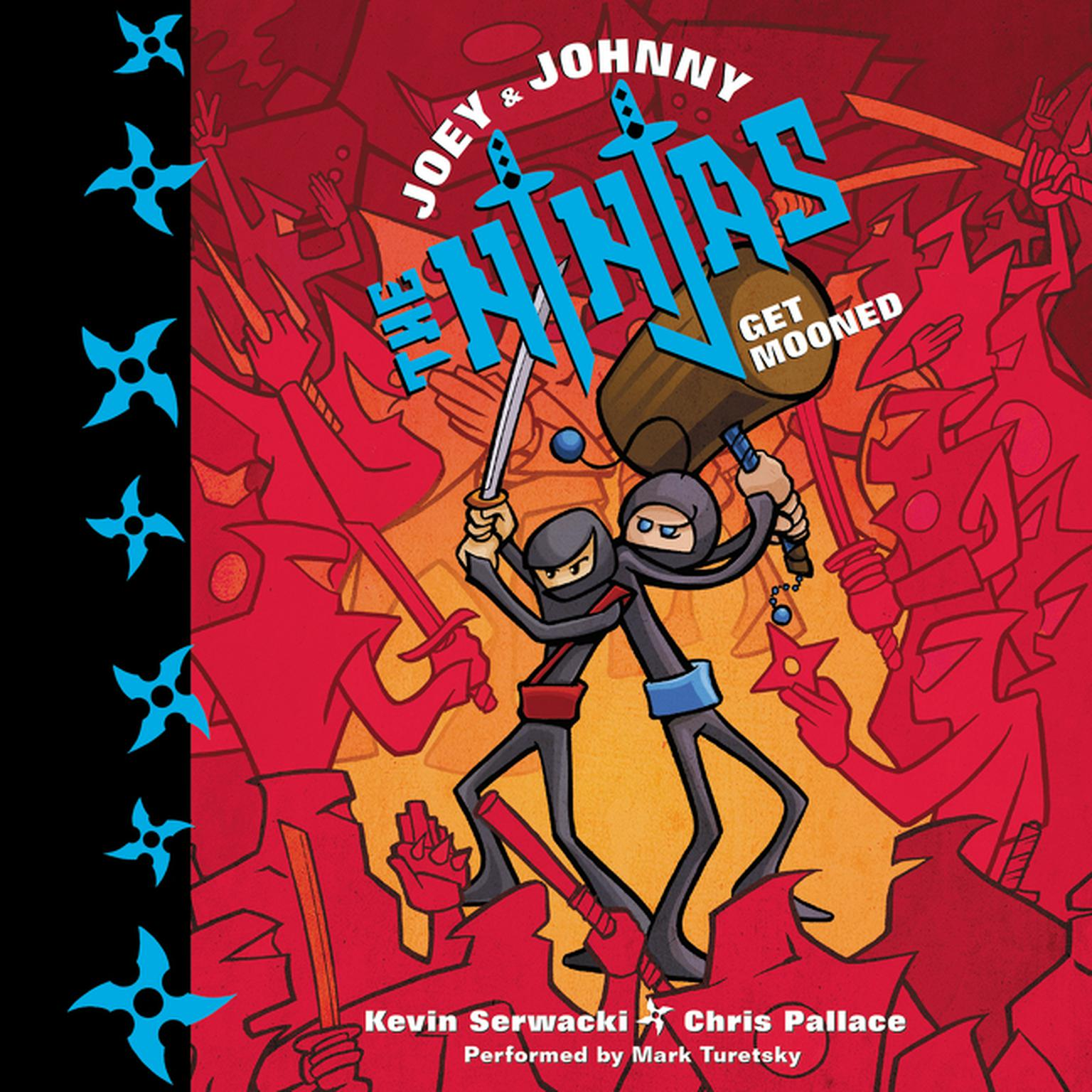 Printable Joey and Johnny, the Ninjas: Get Mooned Audiobook Cover Art