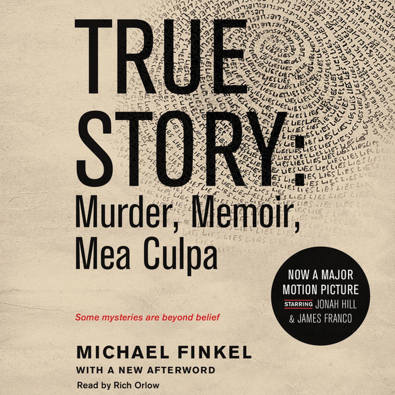 Printable True Story tie-in edtion: Murder, Memoir, Mea Culpa Audiobook Cover Art