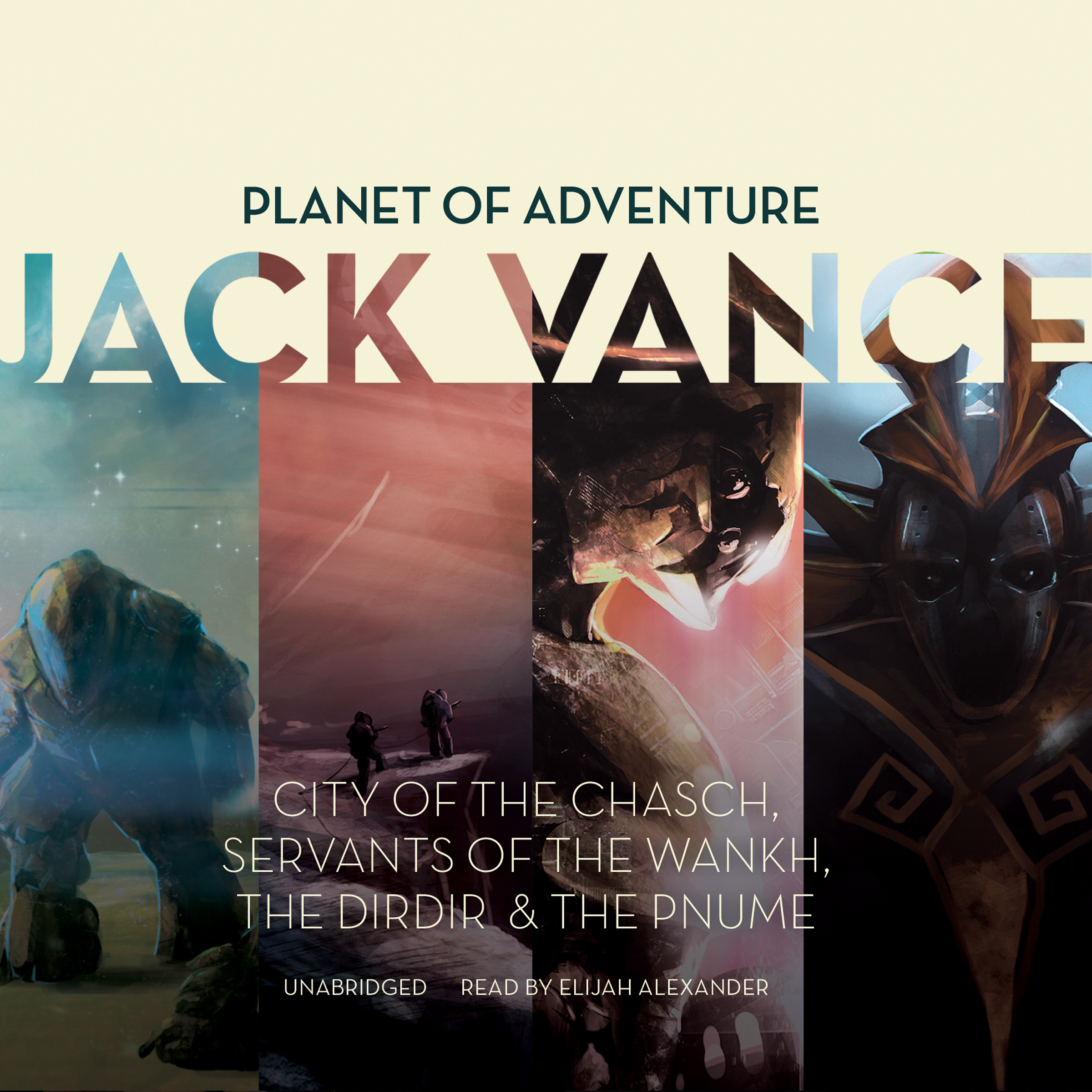 Printable Planet of Adventure: City of the Chasch, Servants of the Wankh, The Dirdir, The Pnume Audiobook Cover Art
