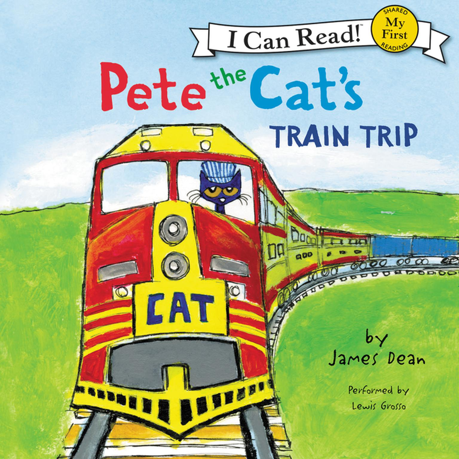 Printable Pete the Cat's Train Trip Audiobook Cover Art