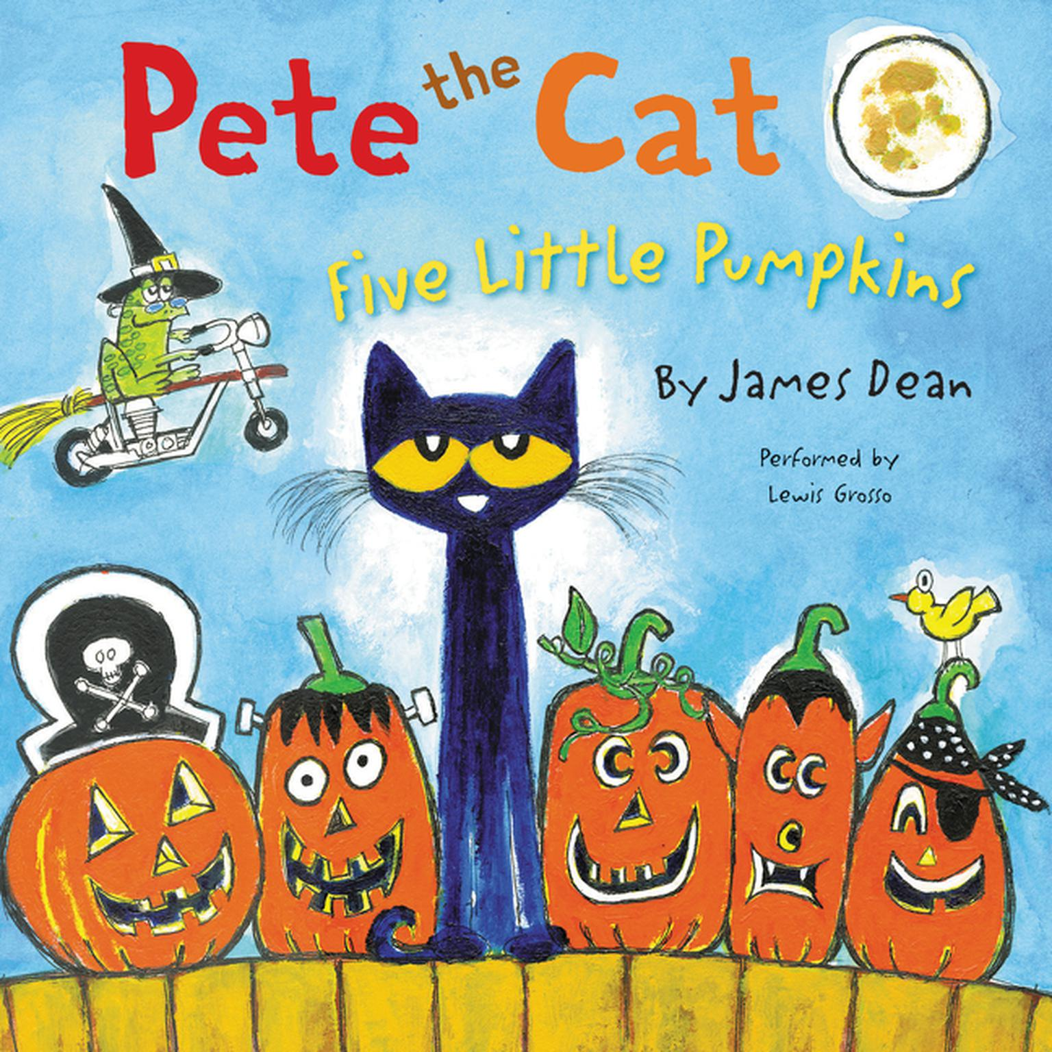 Printable Pete the Cat: Five Little Pumpkins Audiobook Cover Art
