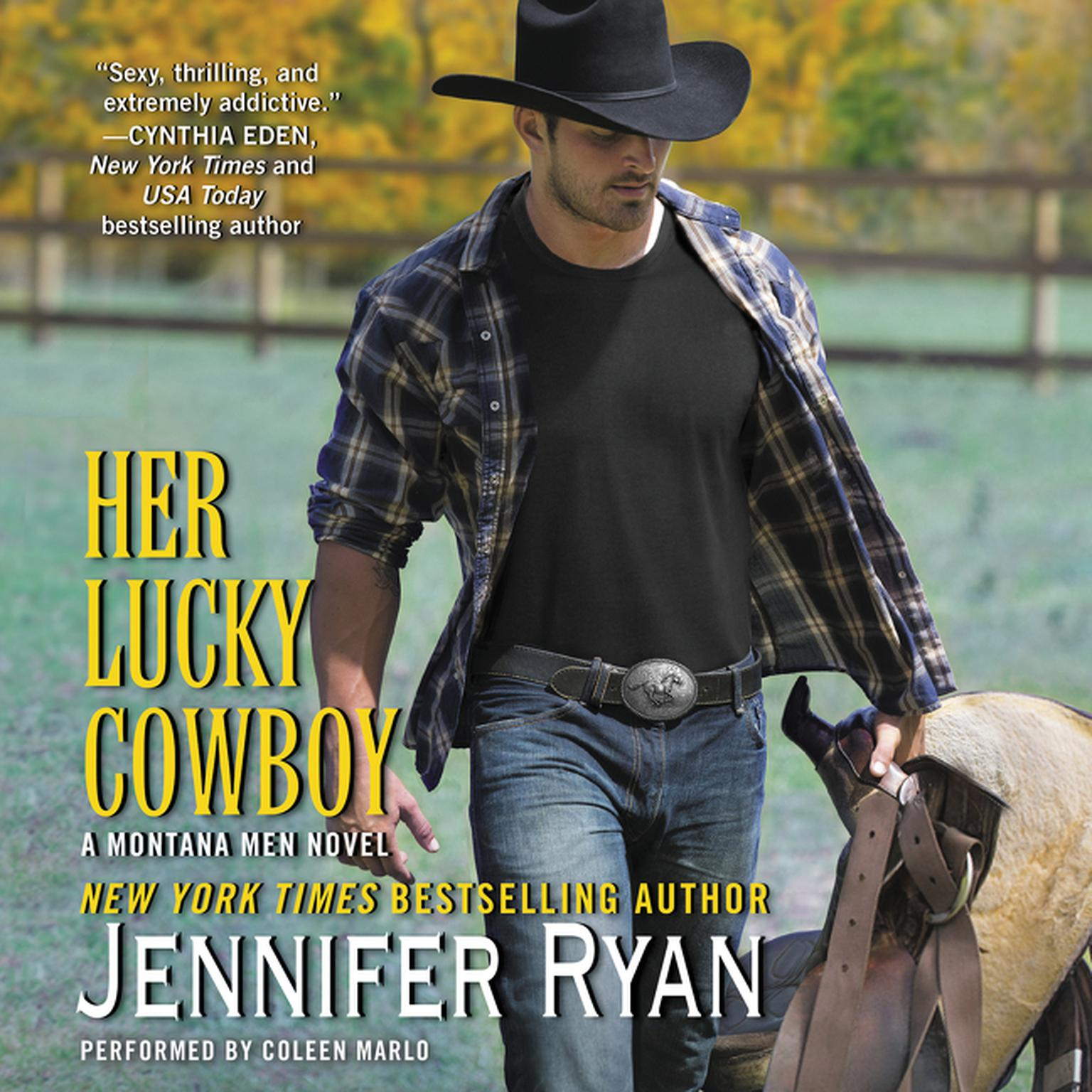Printable Her Lucky Cowboy: A Montana Men Novel Audiobook Cover Art