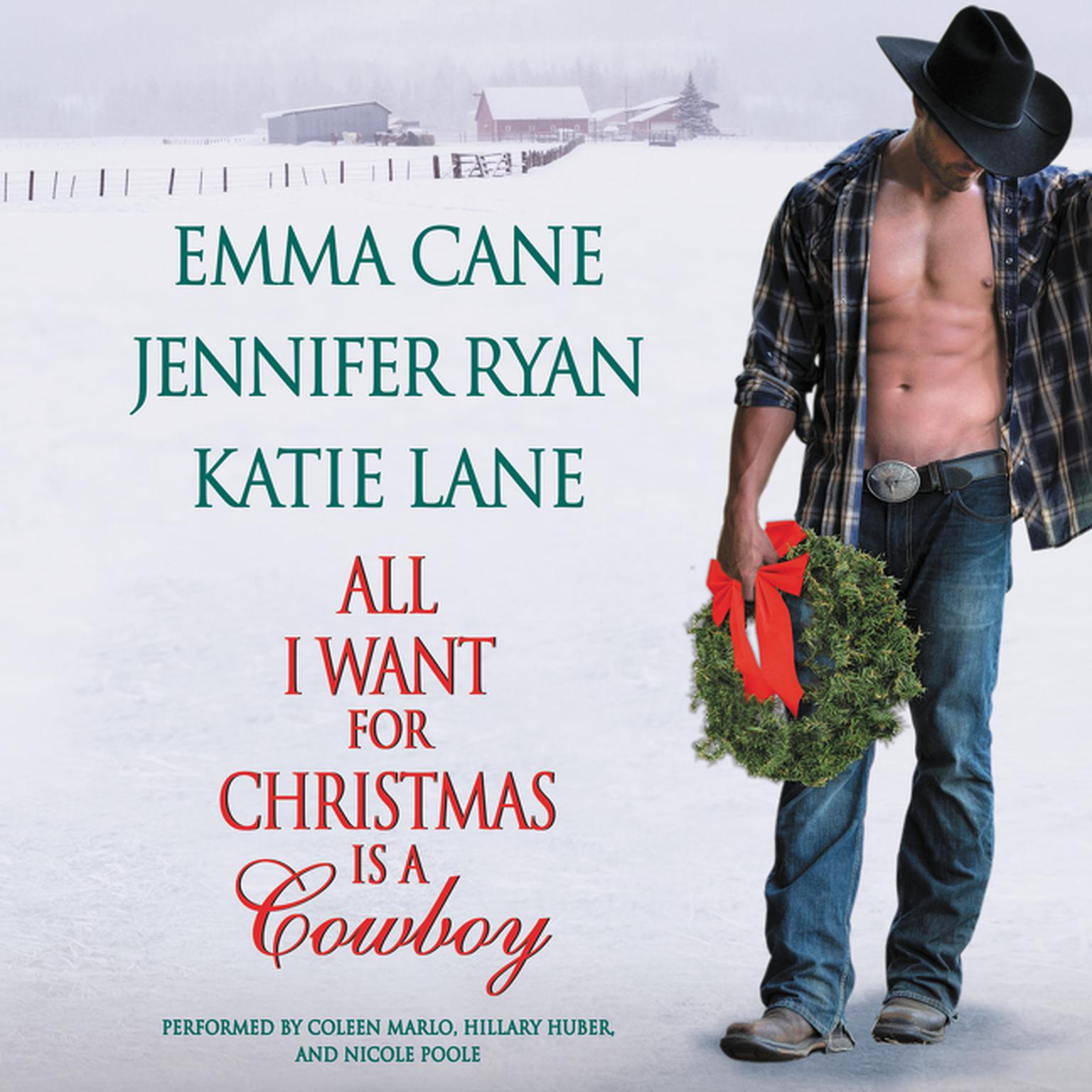 Printable All I Want for Christmas Is a Cowboy Audiobook Cover Art