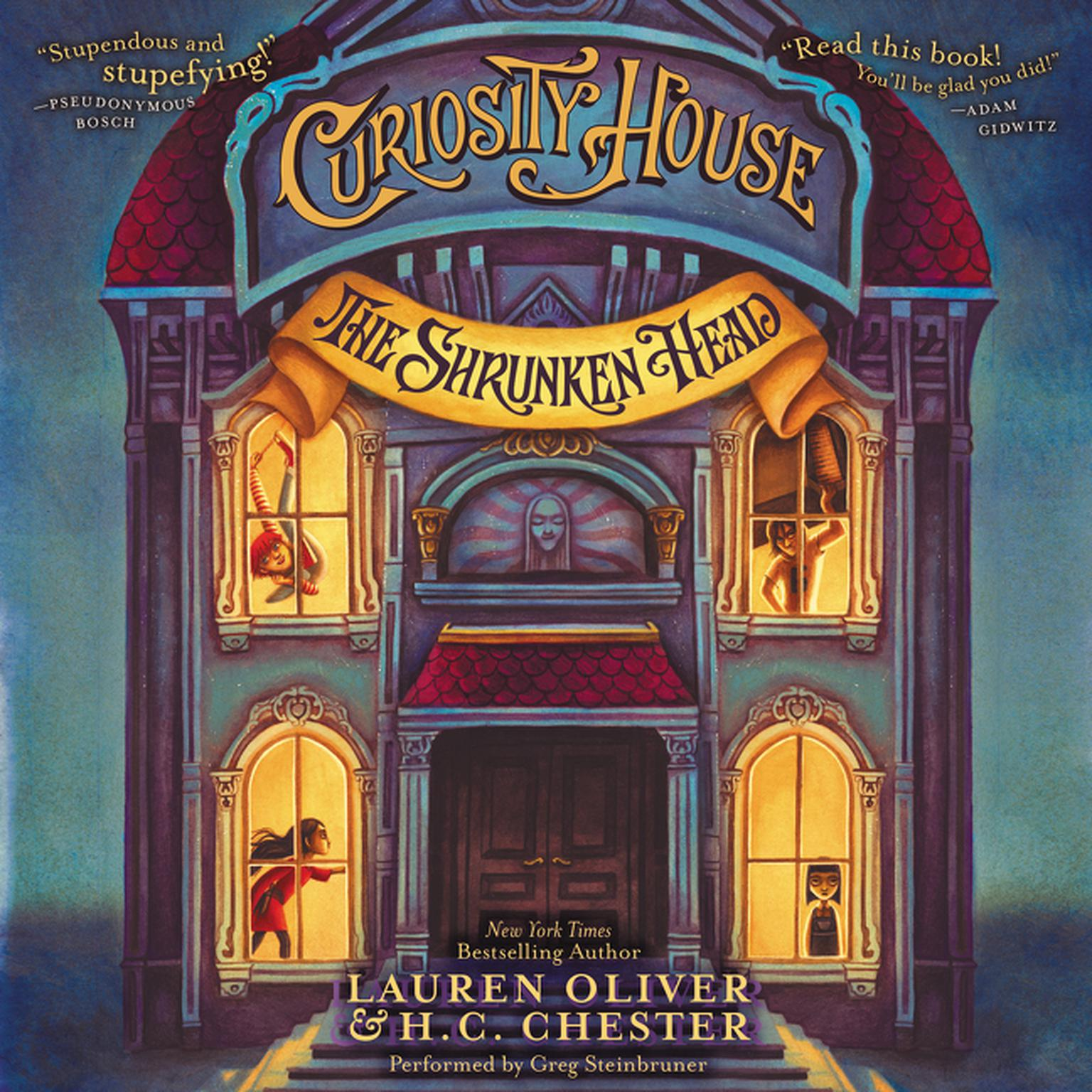Printable Curiosity House: The Shrunken Head Audiobook Cover Art