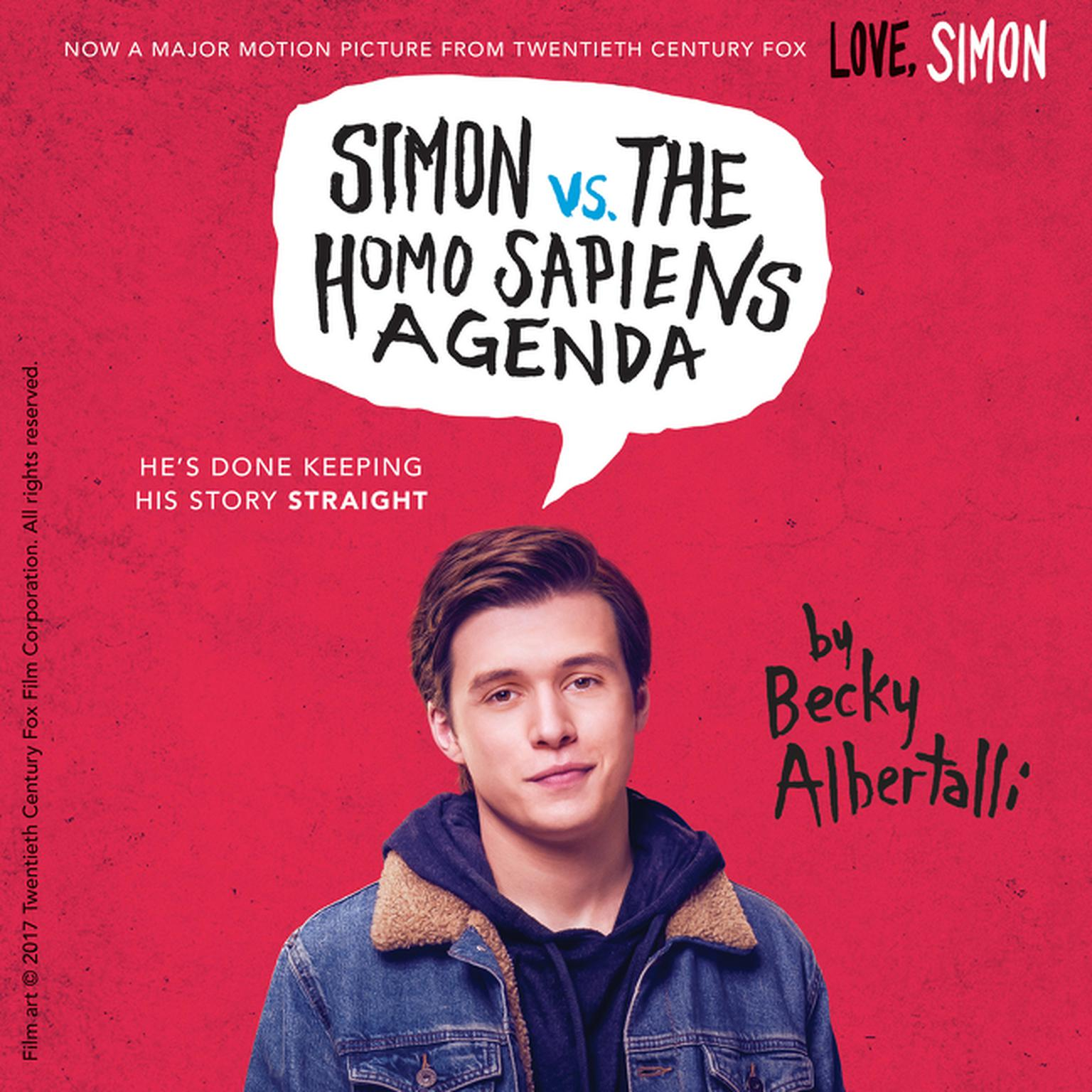 Printable Simon vs. the Homo Sapiens Agenda Audiobook Cover Art