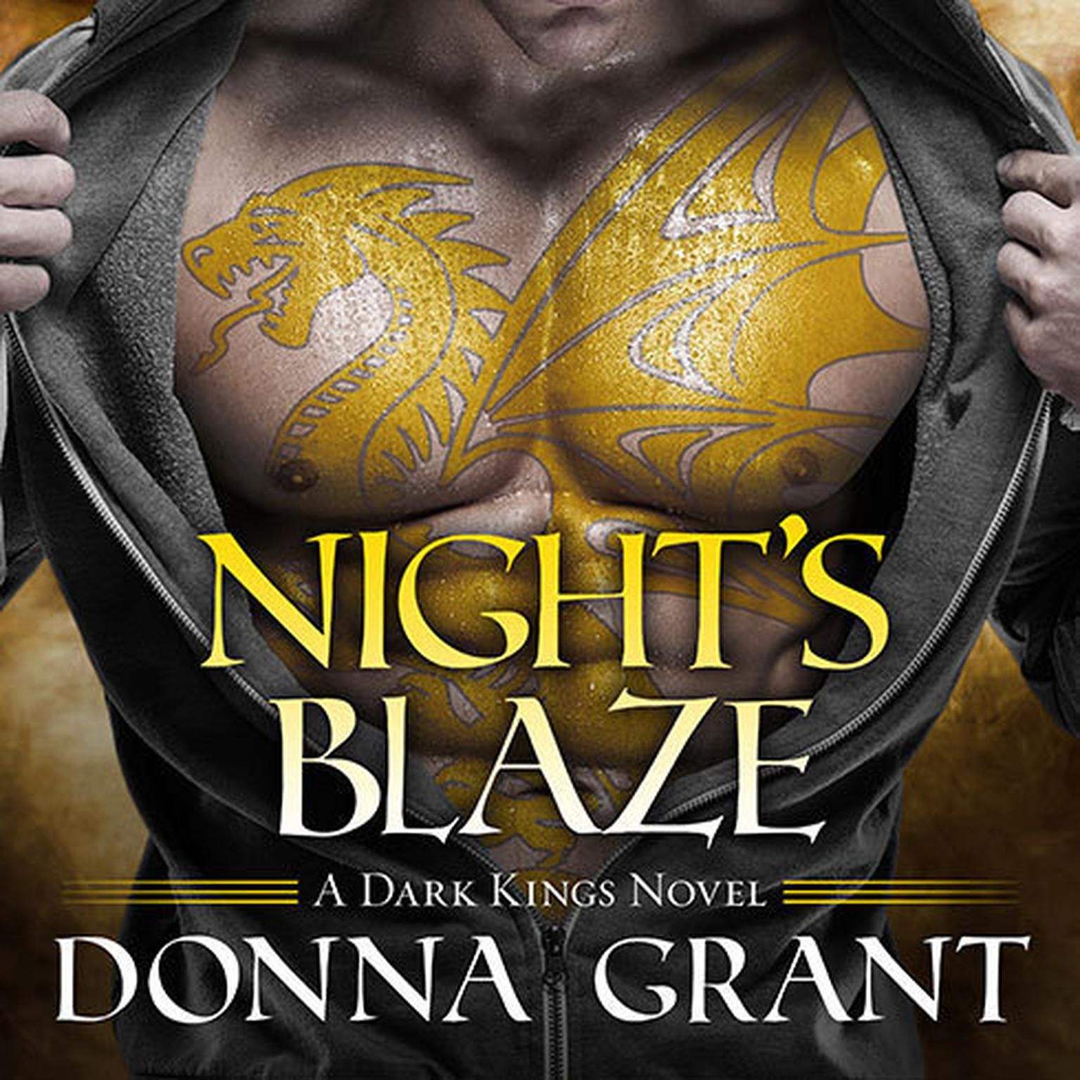 Printable Night's Blaze Audiobook Cover Art
