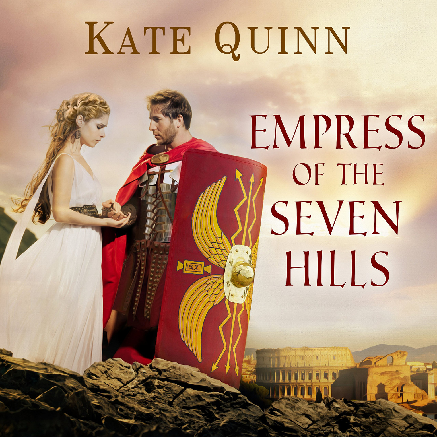 Printable Empress of the Seven Hills Audiobook Cover Art