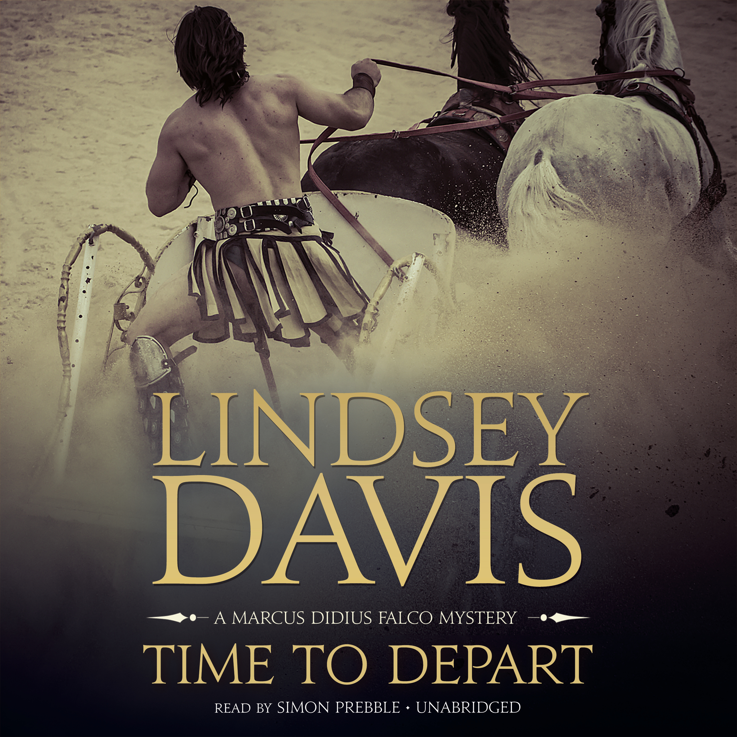 Printable Time to Depart: A Marcus Didius Falco Mystery Audiobook Cover Art