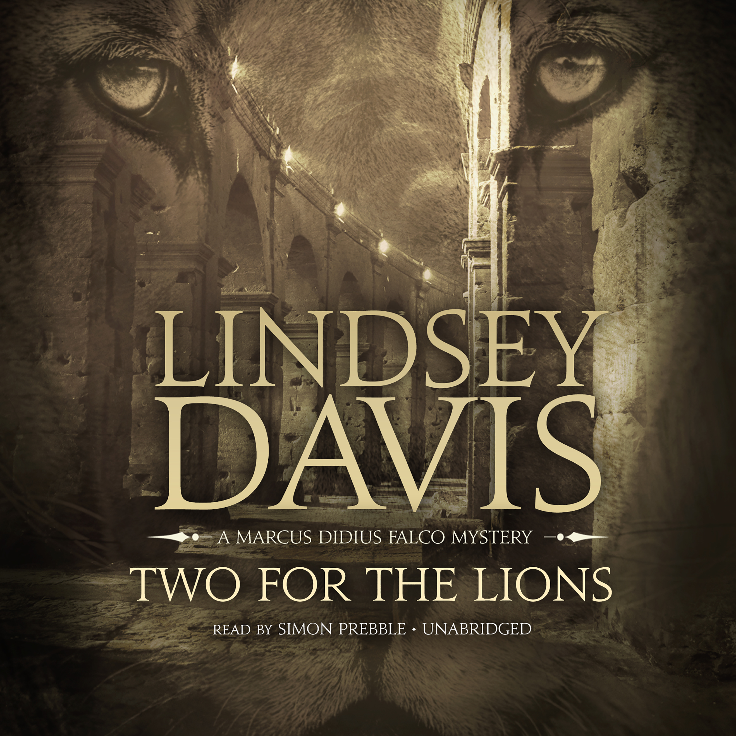 Printable Two for the Lions: A Marcus Didius Falco Mystery Audiobook Cover Art