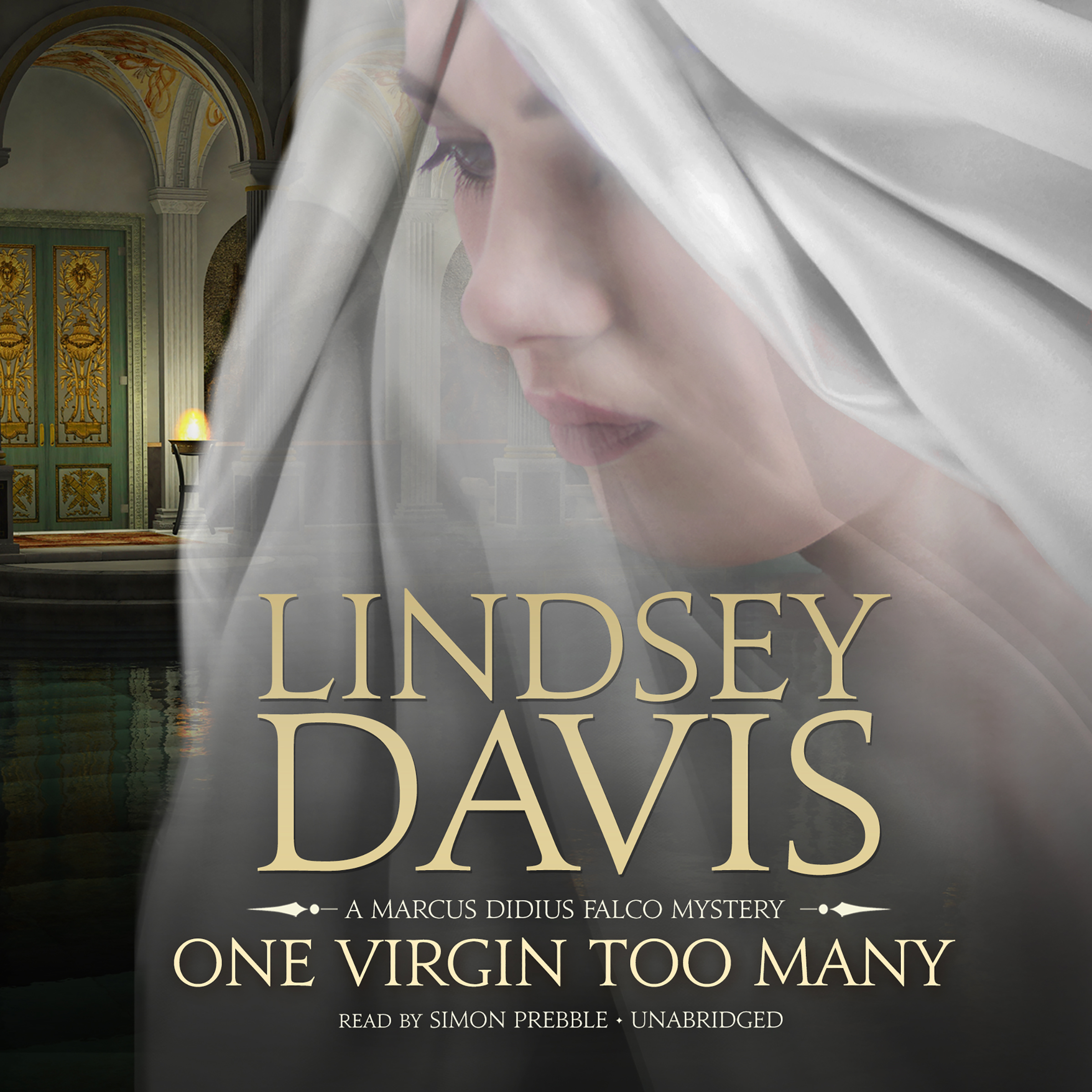 Printable One Virgin Too Many: A Marcus Didius Falco Mystery Audiobook Cover Art
