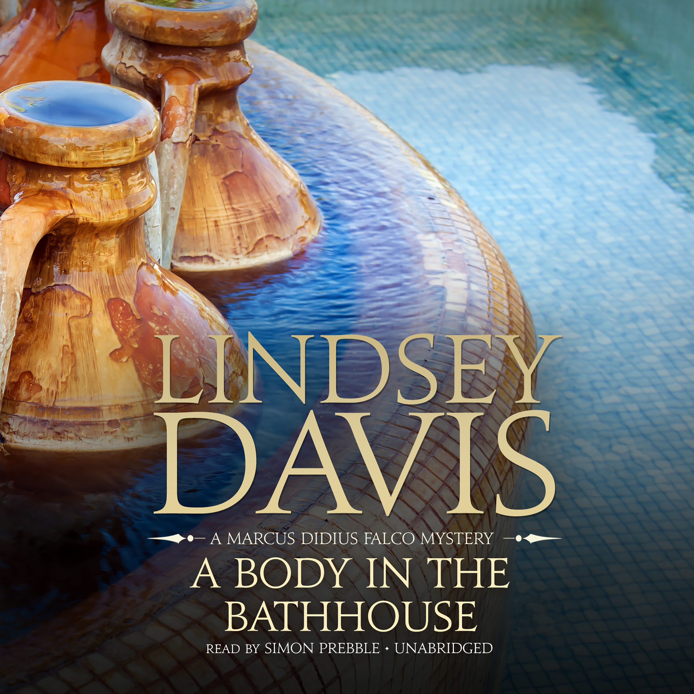Printable A Body in the Bathhouse: A Marcus Didius Falco Mystery Audiobook Cover Art