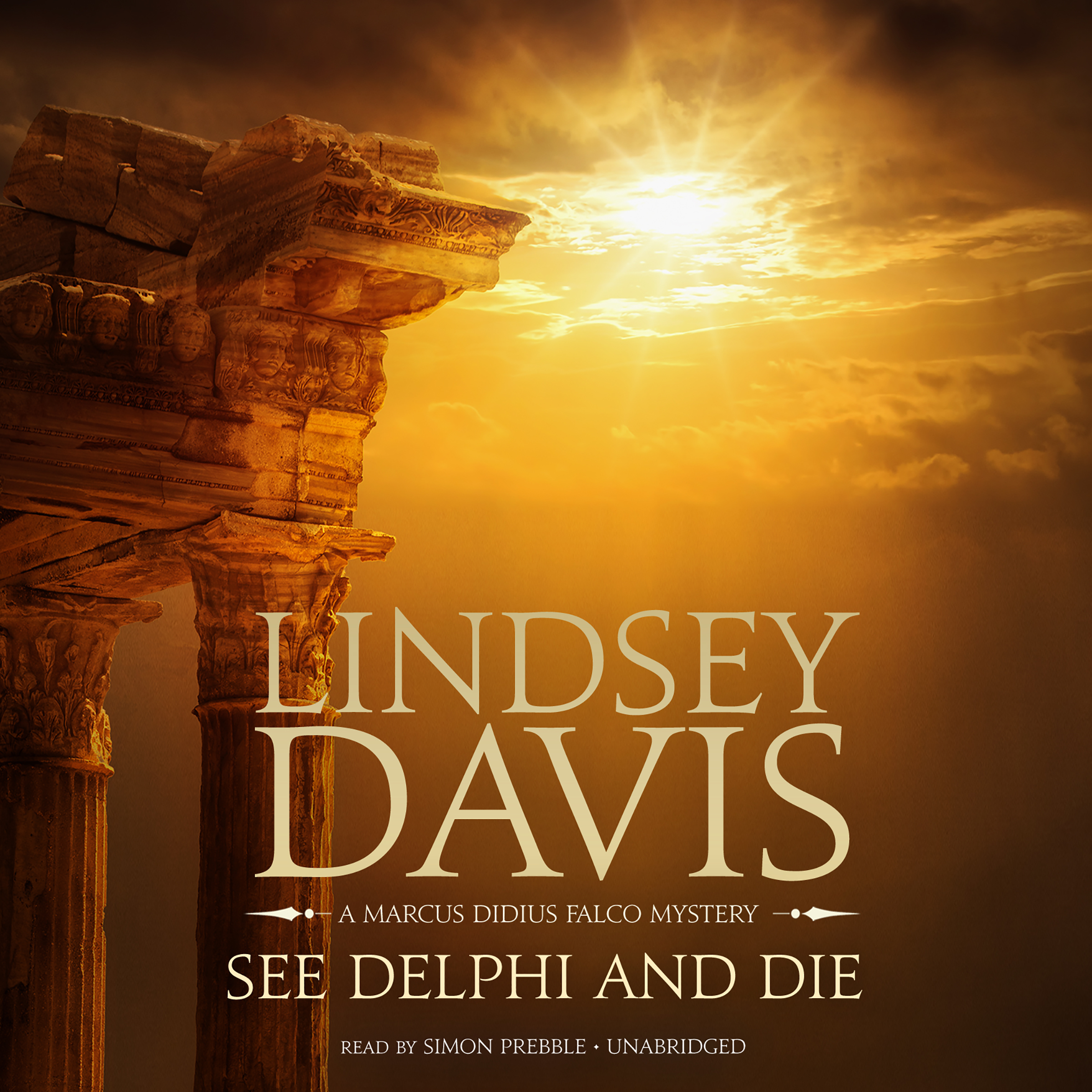Printable See Delphi and Die: A Marcus Didius Falco Mystery Audiobook Cover Art