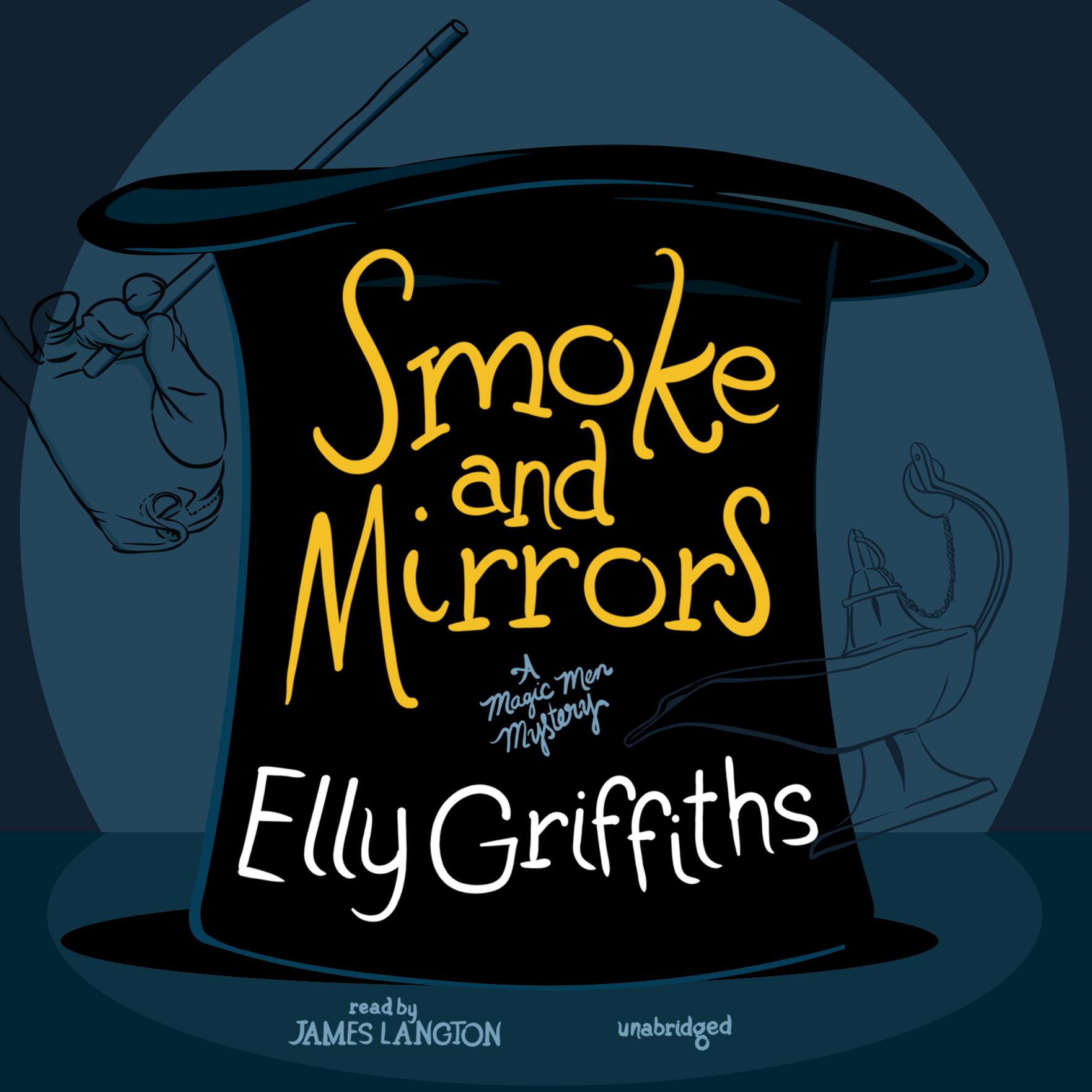 Printable Smoke and Mirrors Audiobook Cover Art