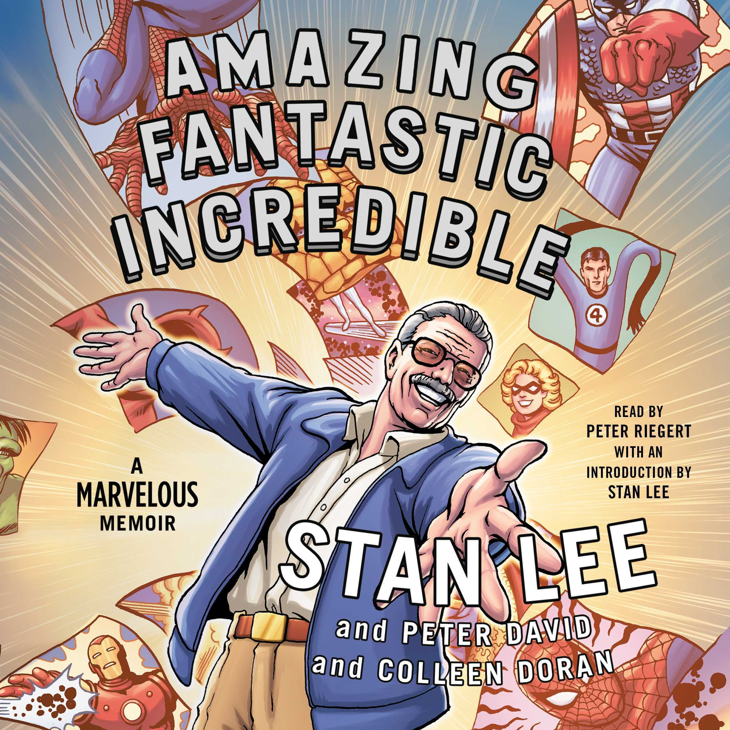 Printable Amazing Fantastic Incredible: A Marvelous Memoir Audiobook Cover Art