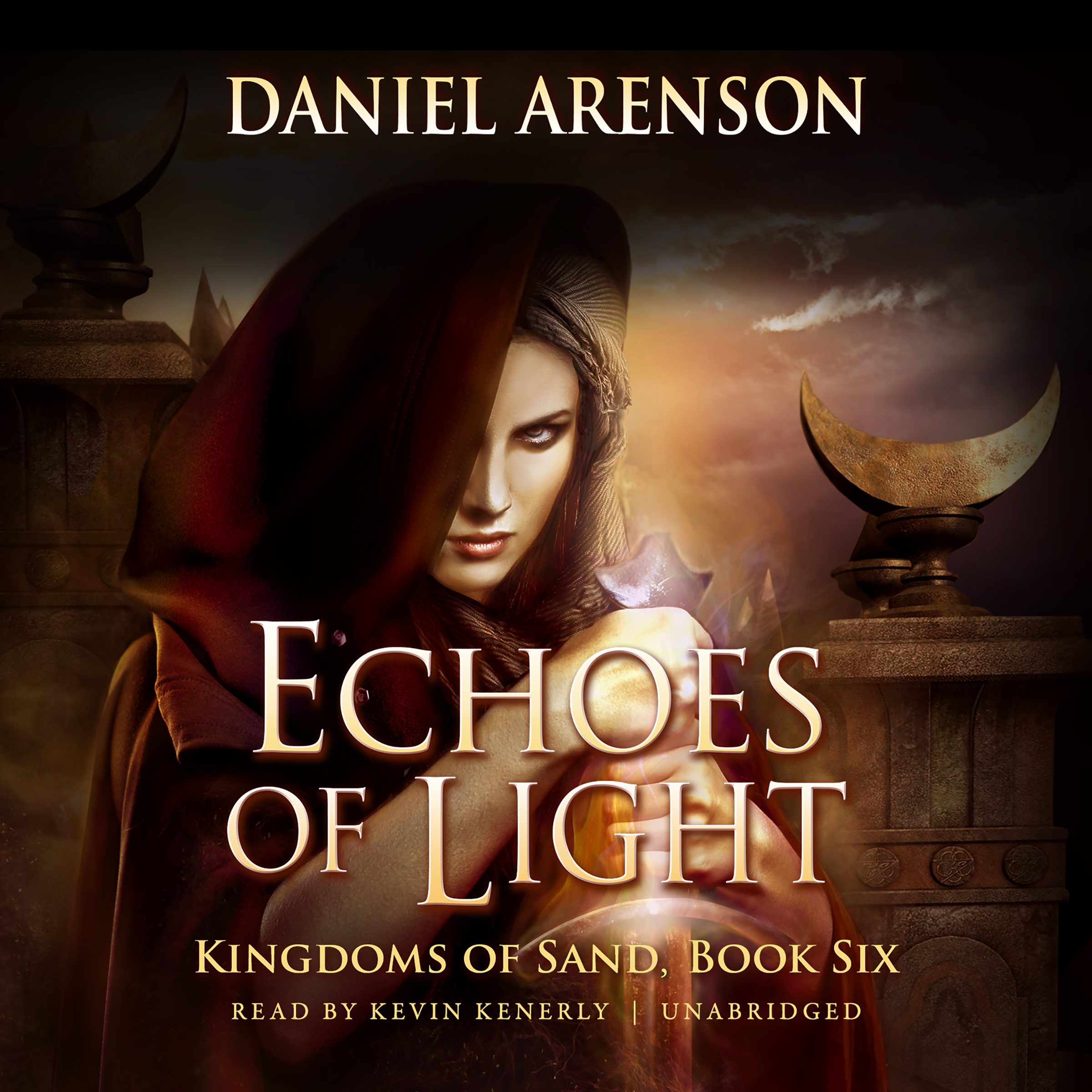Printable Echoes of Light: Kingdoms of Sand, Book 6 Audiobook Cover Art