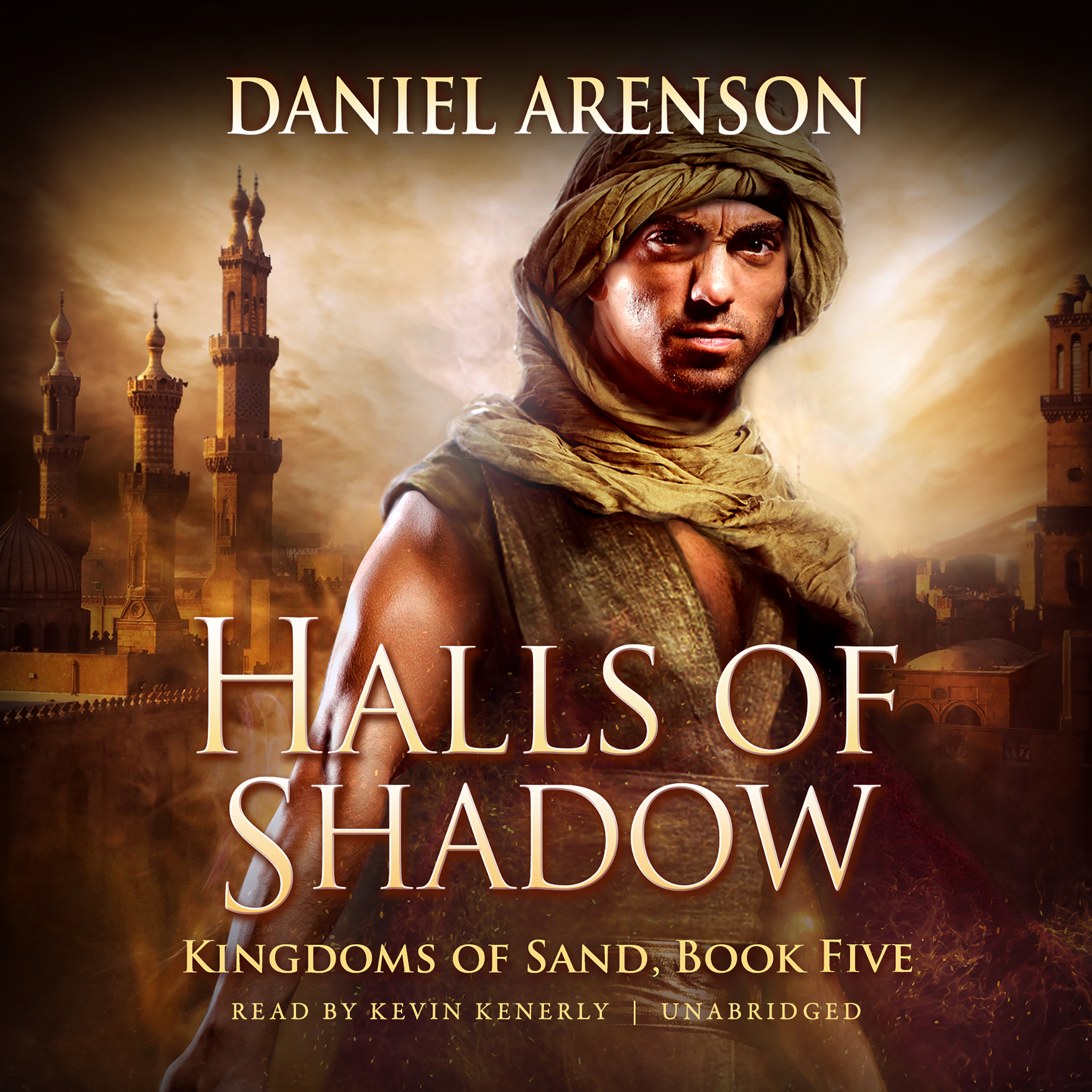 Printable Halls of Shadow: Kingdoms of Sand, Book 5 Audiobook Cover Art