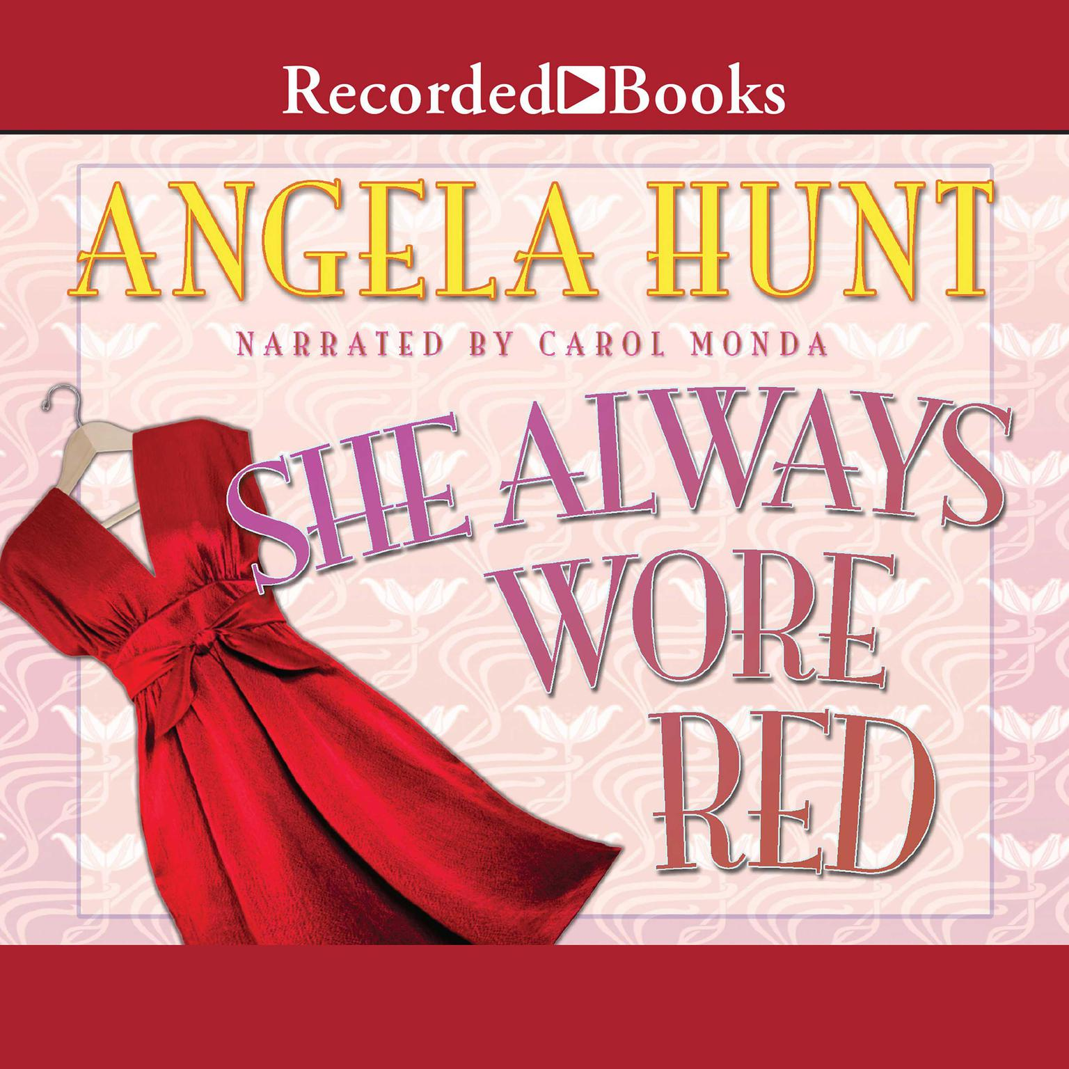 Printable She Always Wore Red Audiobook Cover Art