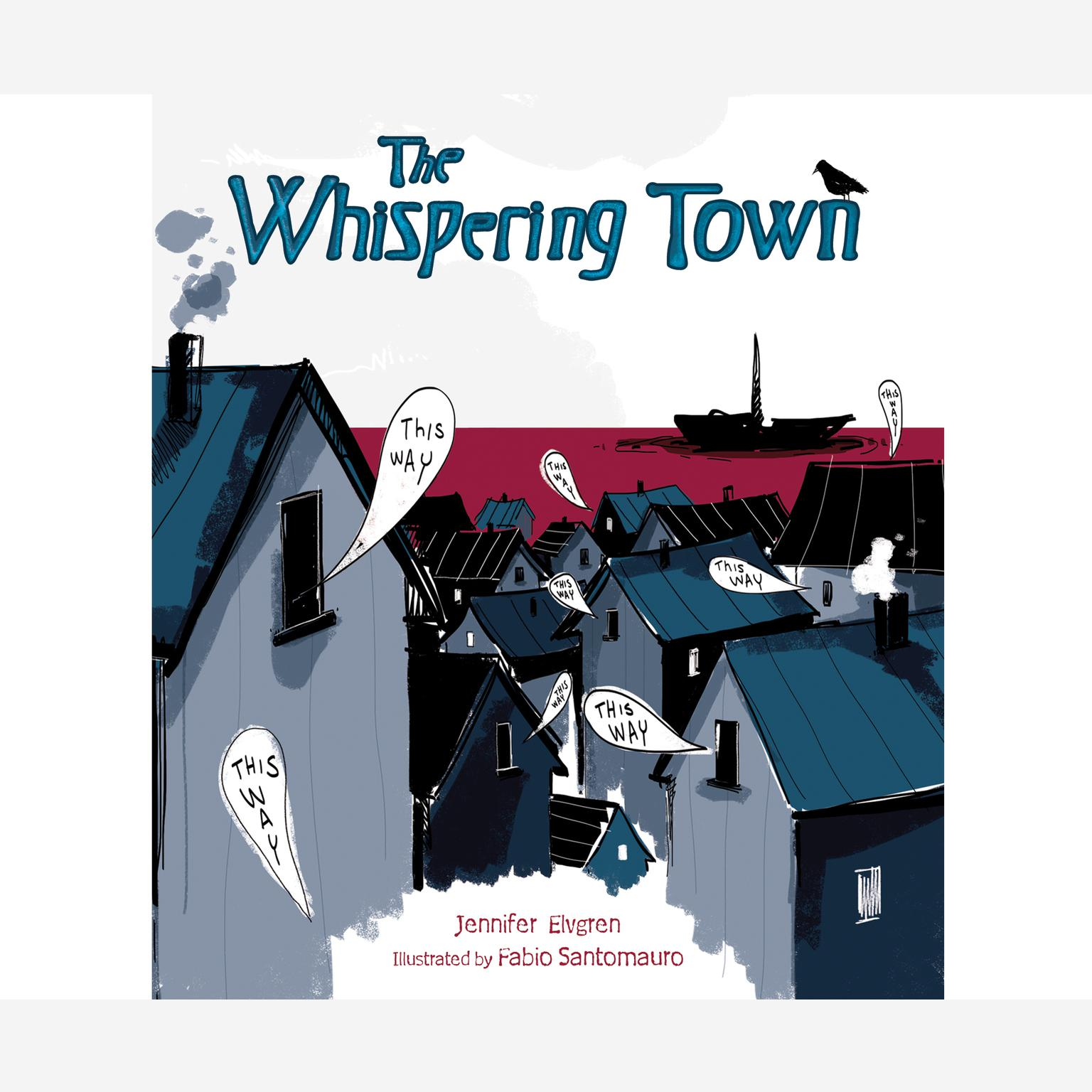Printable The Whispering Town Audiobook Cover Art