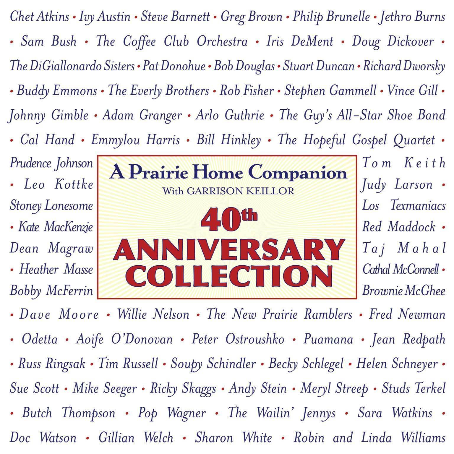 Printable Prairie Home Companion 40th Anniversary Collection Audiobook Cover Art