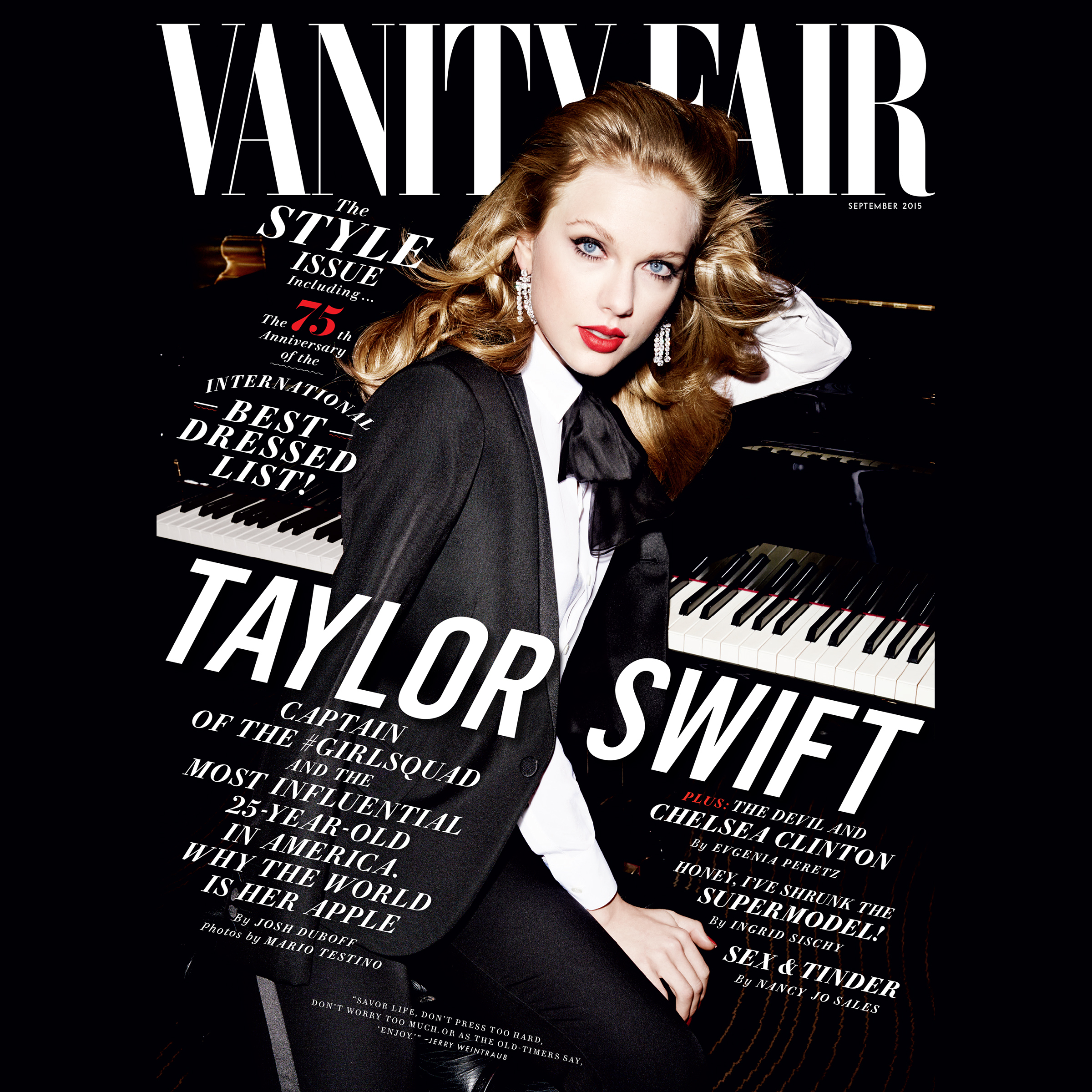 Printable Vanity Fair: September 2015 Issue Audiobook Cover Art