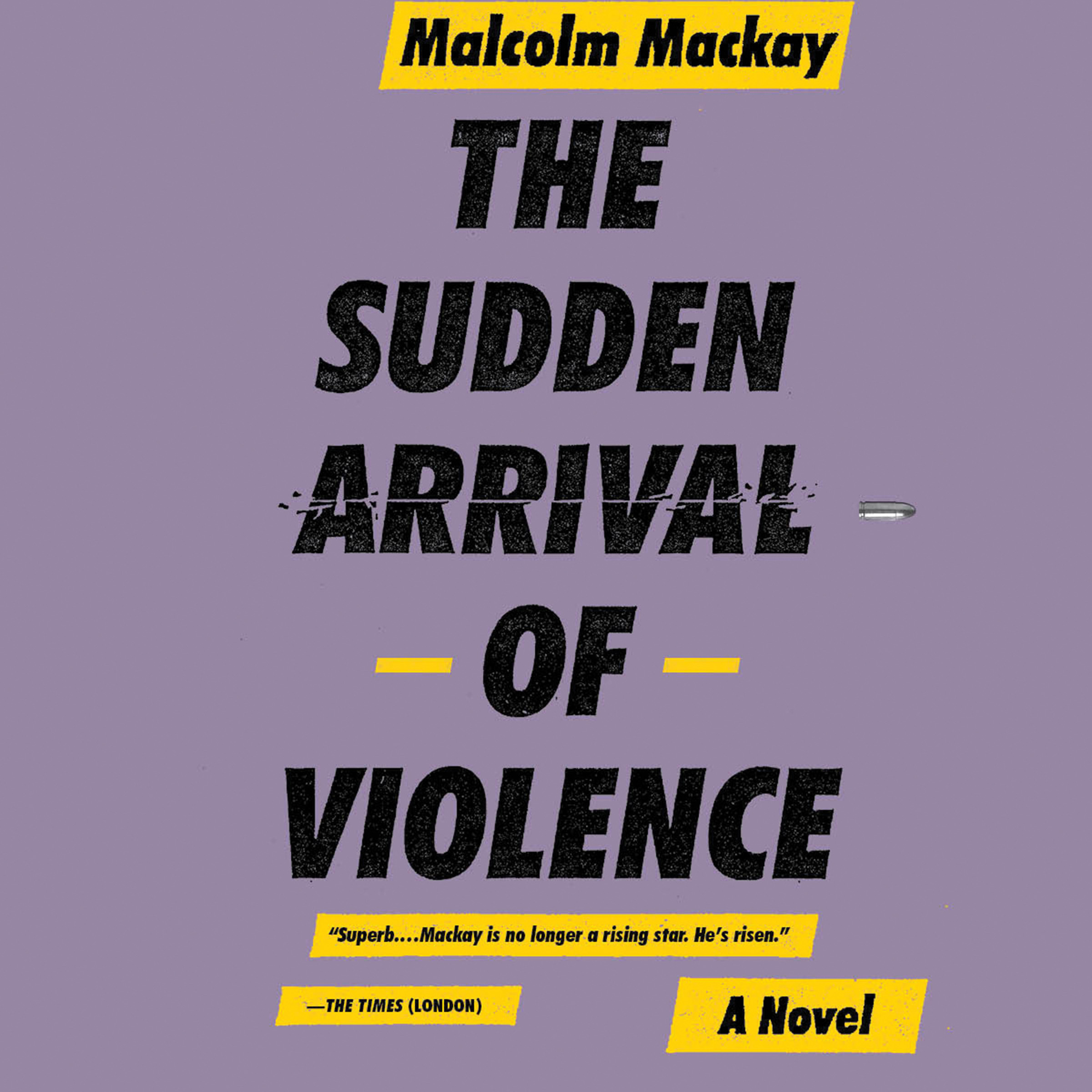 Printable The Sudden Arrival of Violence Audiobook Cover Art
