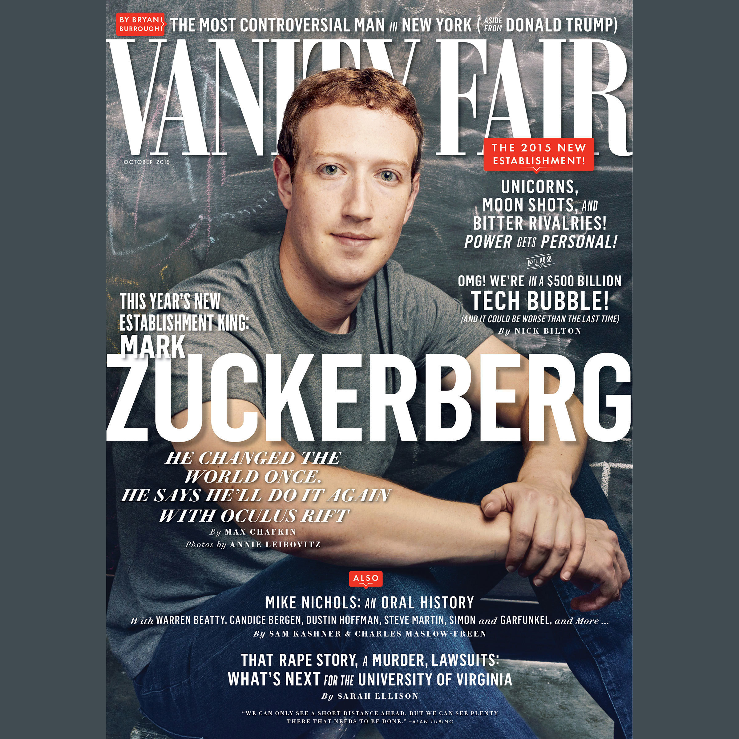 Printable Vanity Fair: October 2015 Issue Audiobook Cover Art