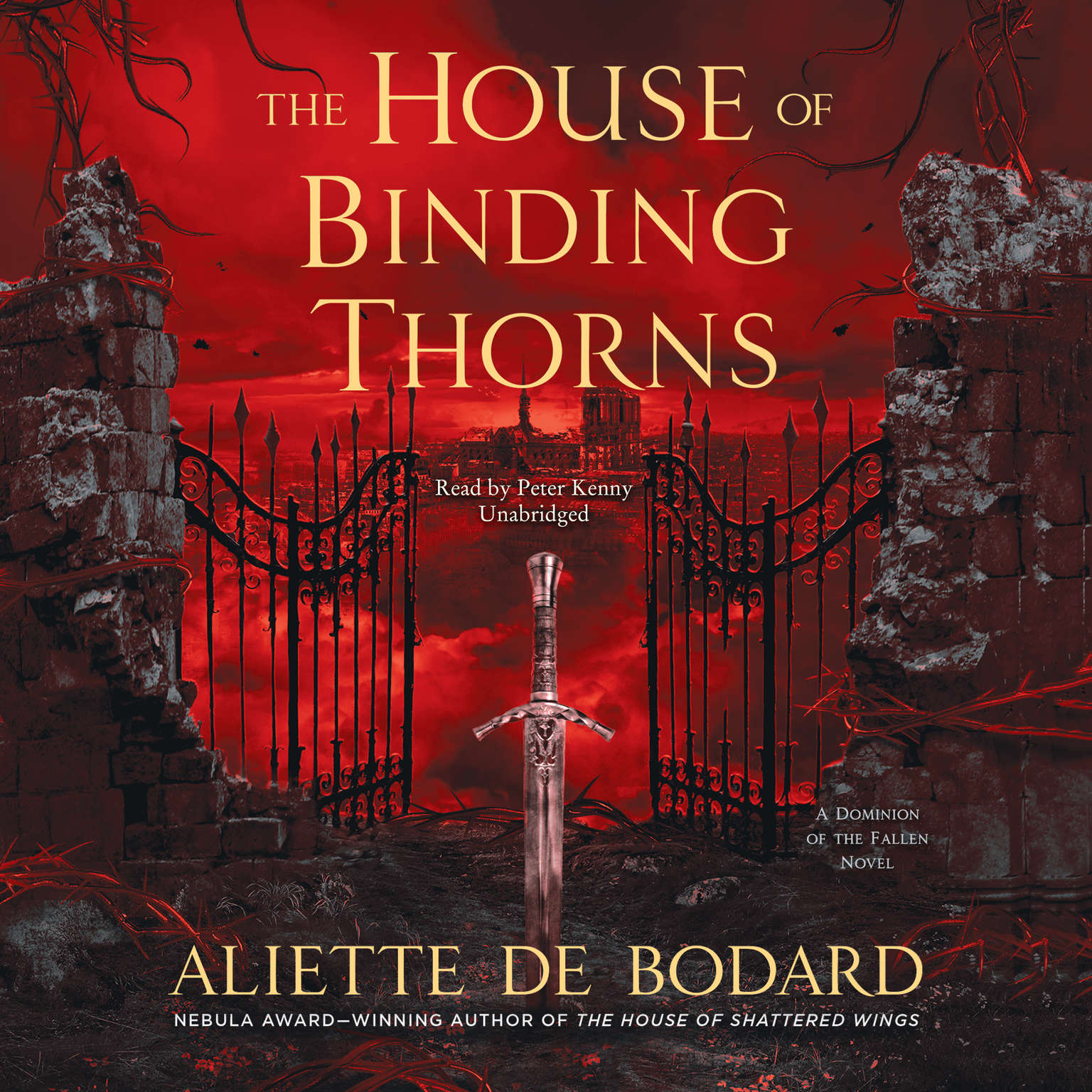 Printable The House of Binding Thorns: A Dominion of the Fallen Novel Audiobook Cover Art