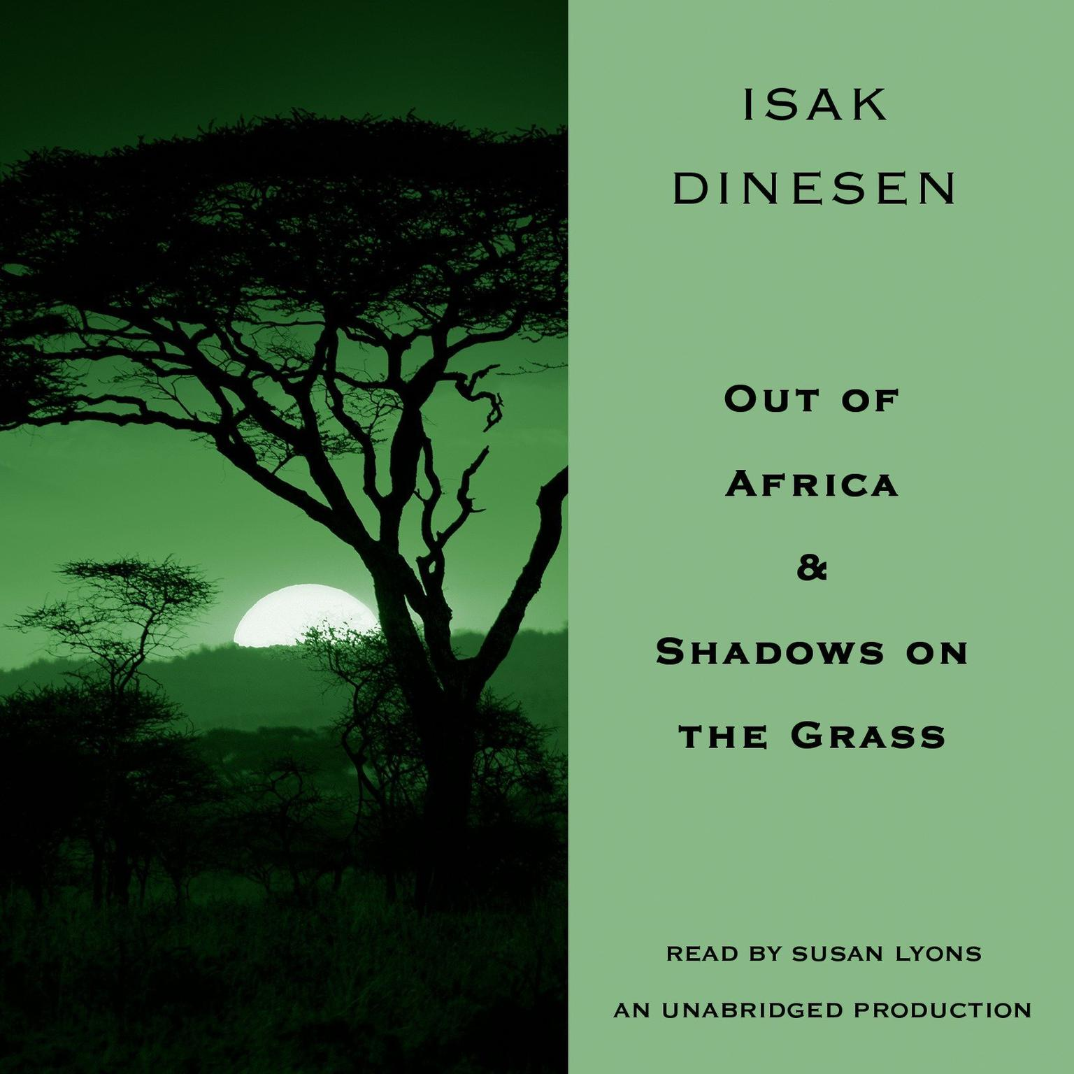 Printable Out of Africa & Shadows on the Grass Audiobook Cover Art