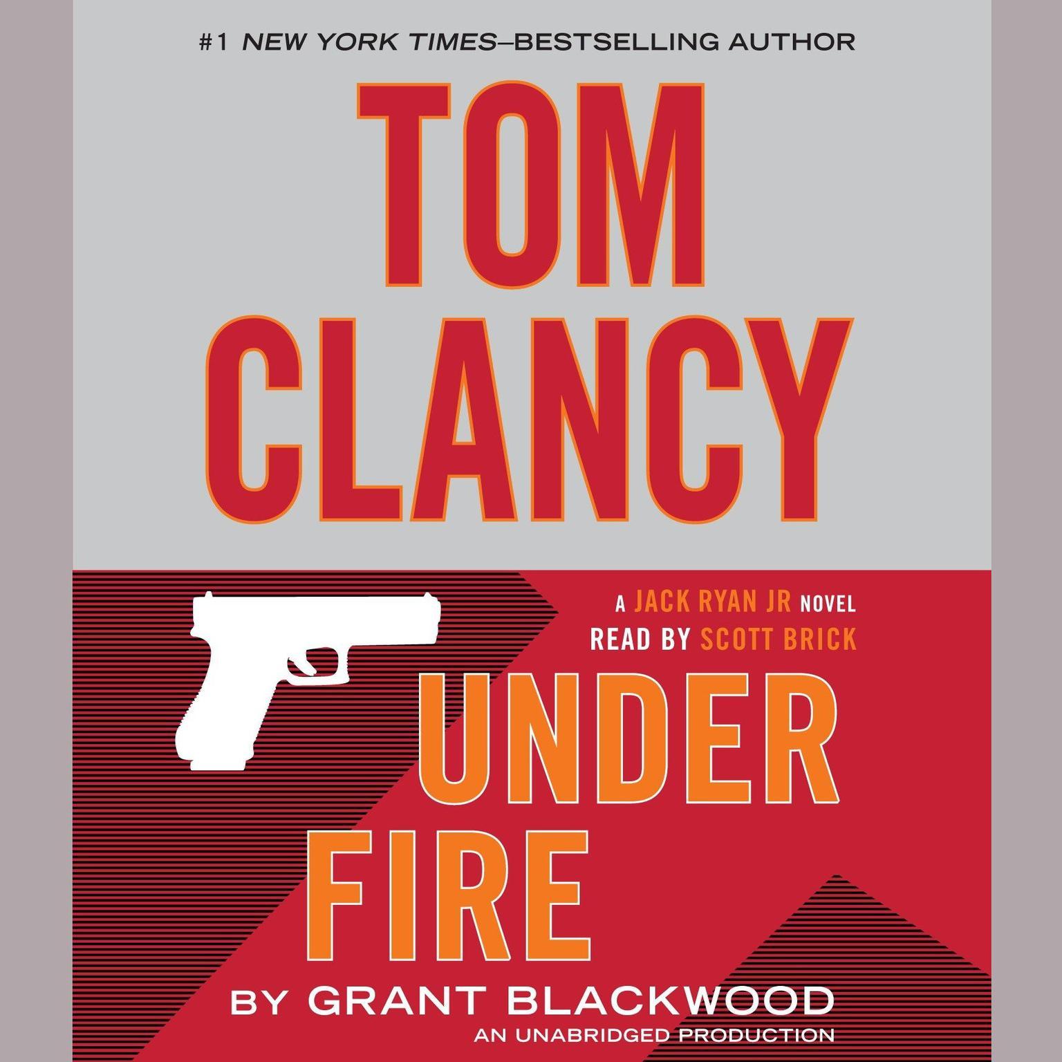 Printable Tom Clancy Under Fire: A Jack Ryan Jr. Novel Audiobook Cover Art