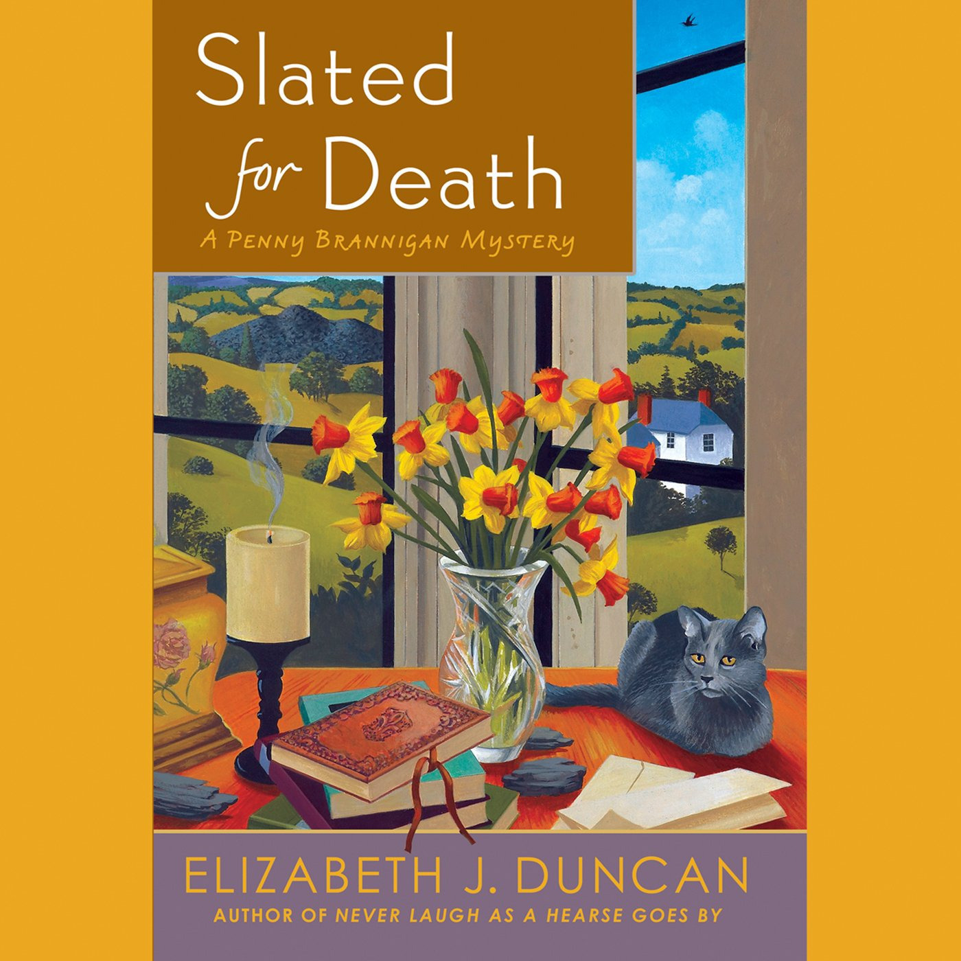 Printable Slated for Death: A Penny Brannigan Mystery Audiobook Cover Art
