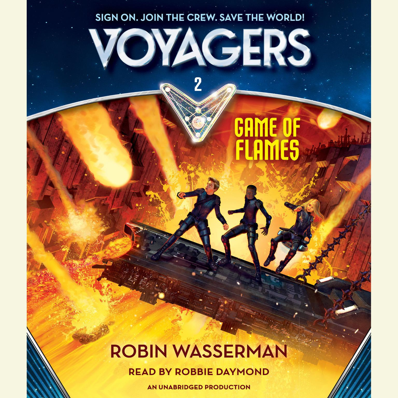Printable Voyagers: Game of Flames (Book 2) Audiobook Cover Art
