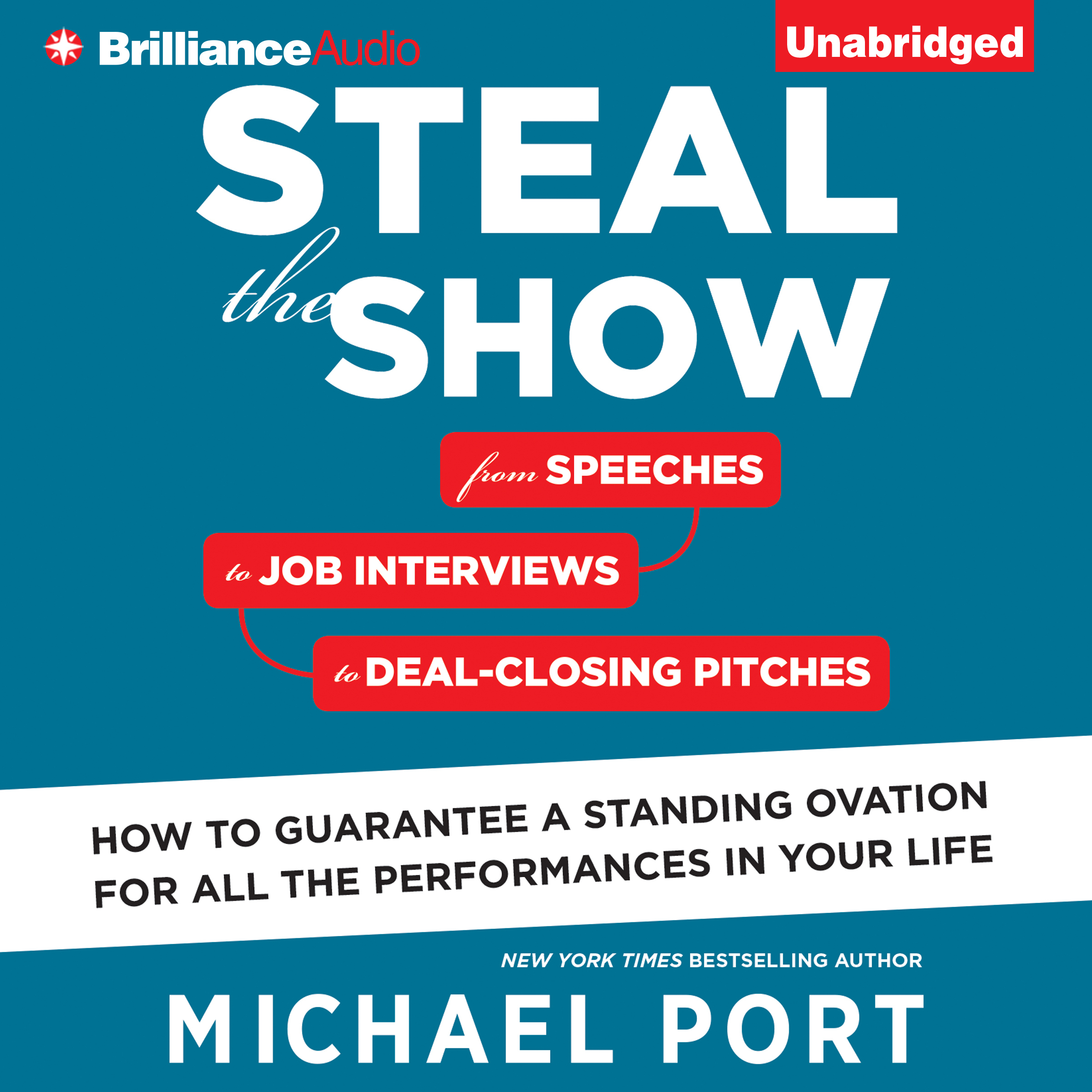 Printable Steal the Show: From Speeches to Job Interviews to Deal-Closing Pitches, How to Guarantee a Standing Ovation for All the Performances in Your Life Audiobook Cover Art