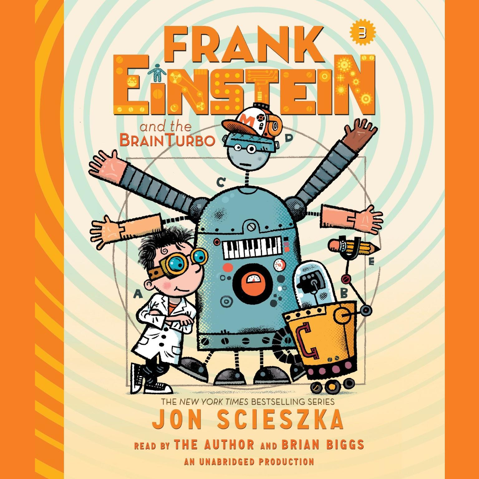 Printable Frank Einstein and the BrainTurbo Audiobook Cover Art