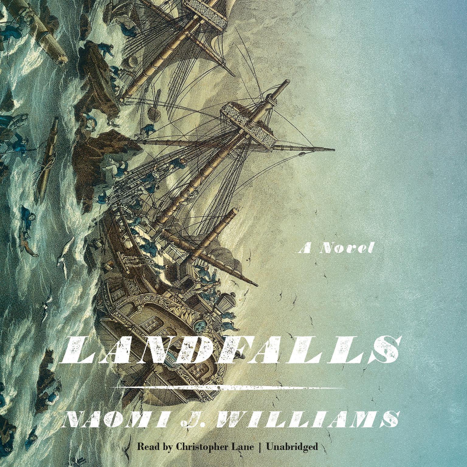 Printable Landfalls Audiobook Cover Art