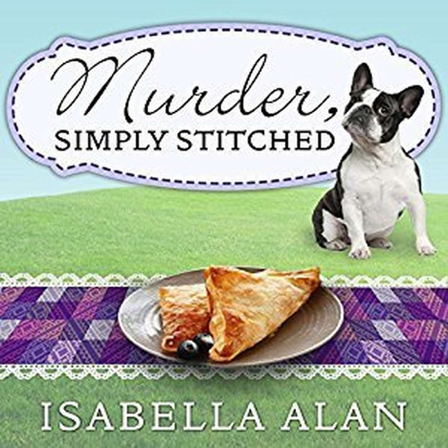 Printable Murder, Simply Stitched Audiobook Cover Art