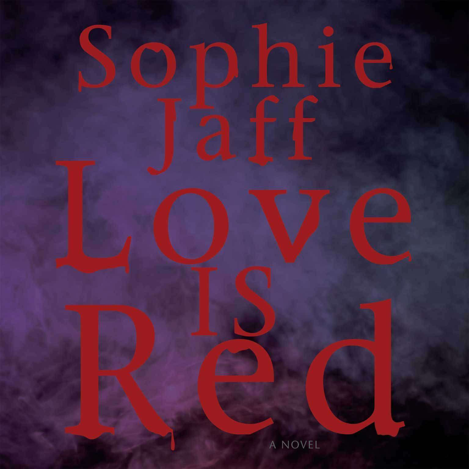 Printable Love Is Red Audiobook Cover Art