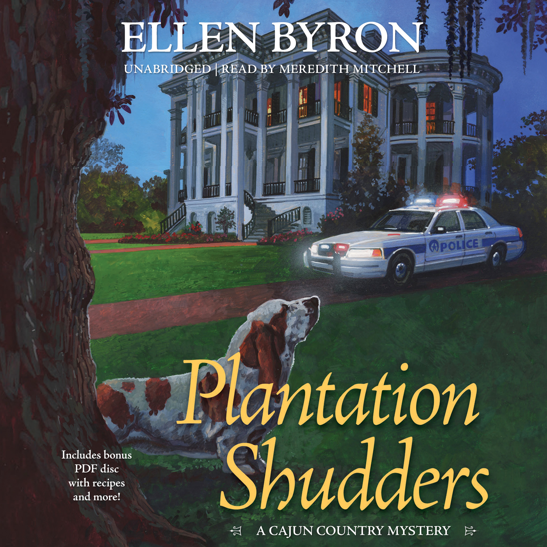 Printable Plantation Shudders: A Cajun Country Mystery Audiobook Cover Art