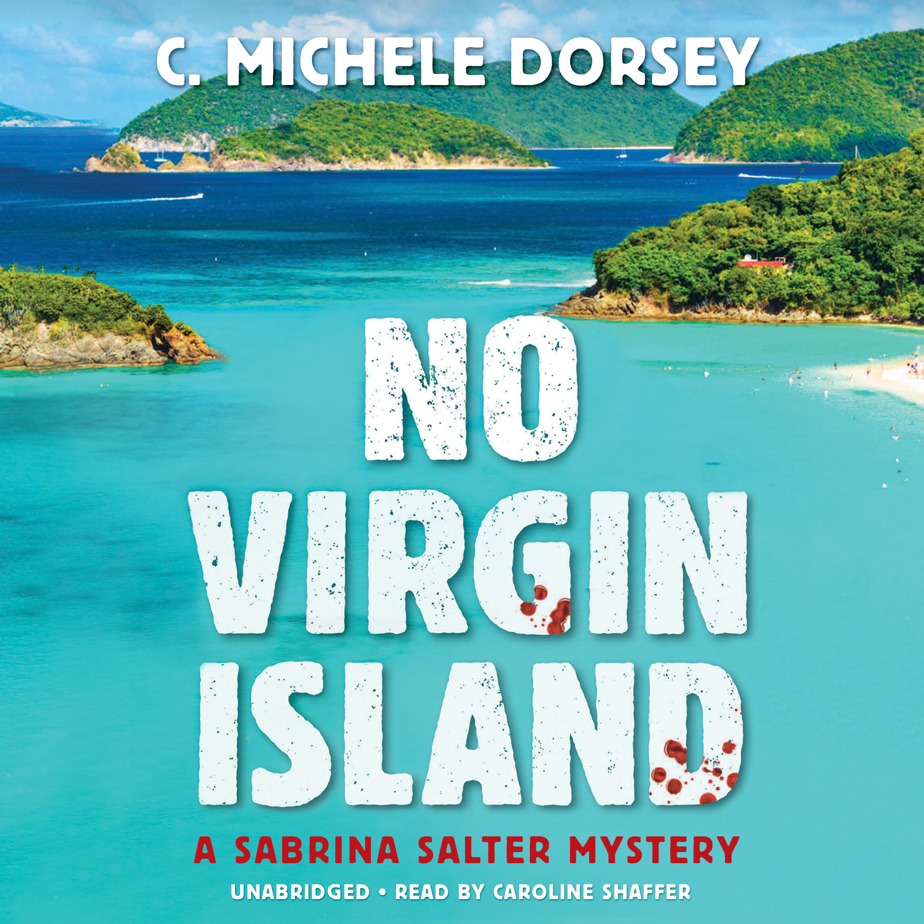 Printable No Virgin Island: A Sabrina Salter Mystery Audiobook Cover Art